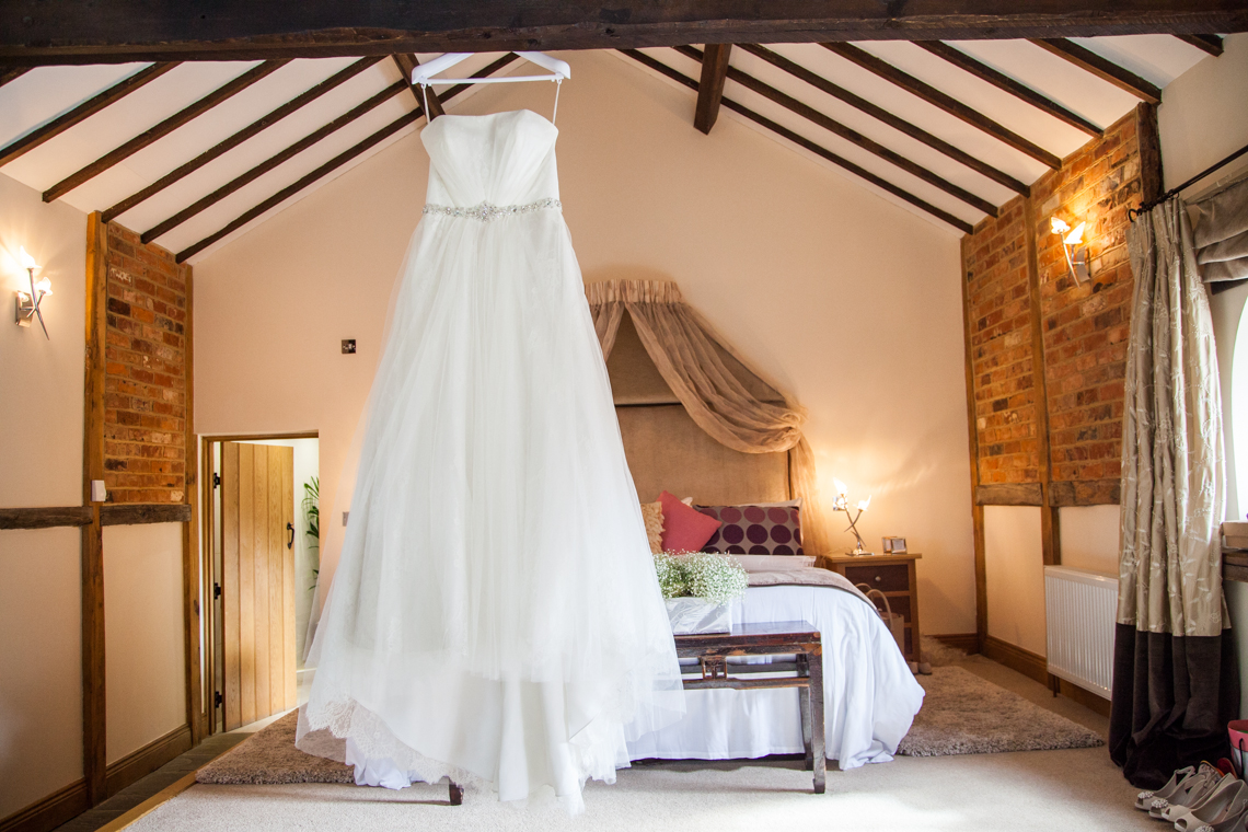 Rivervale barn wedding photography, sussex wedding photographer, bridal gown portrait