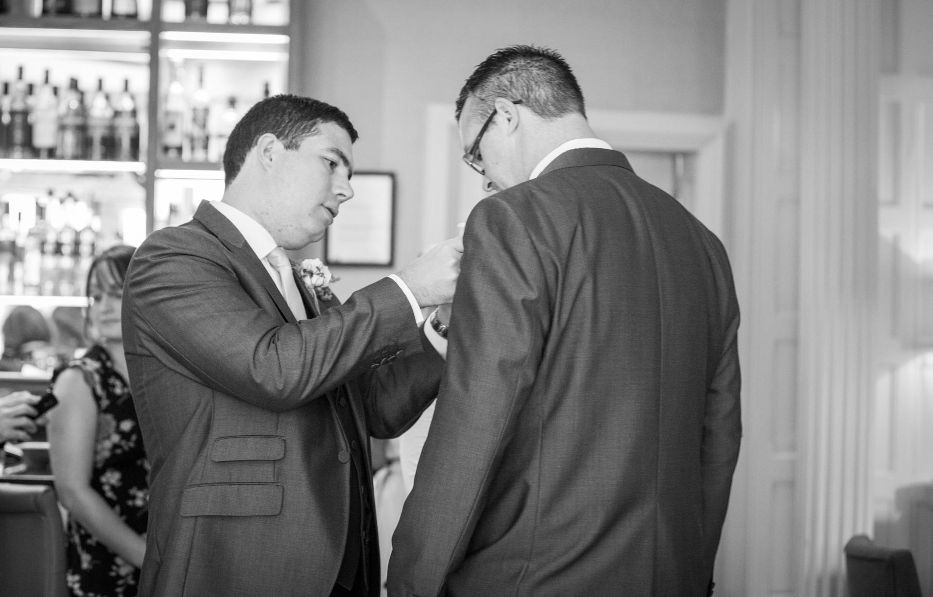 alexander house wedding photography, groom, crawley wedding photographer