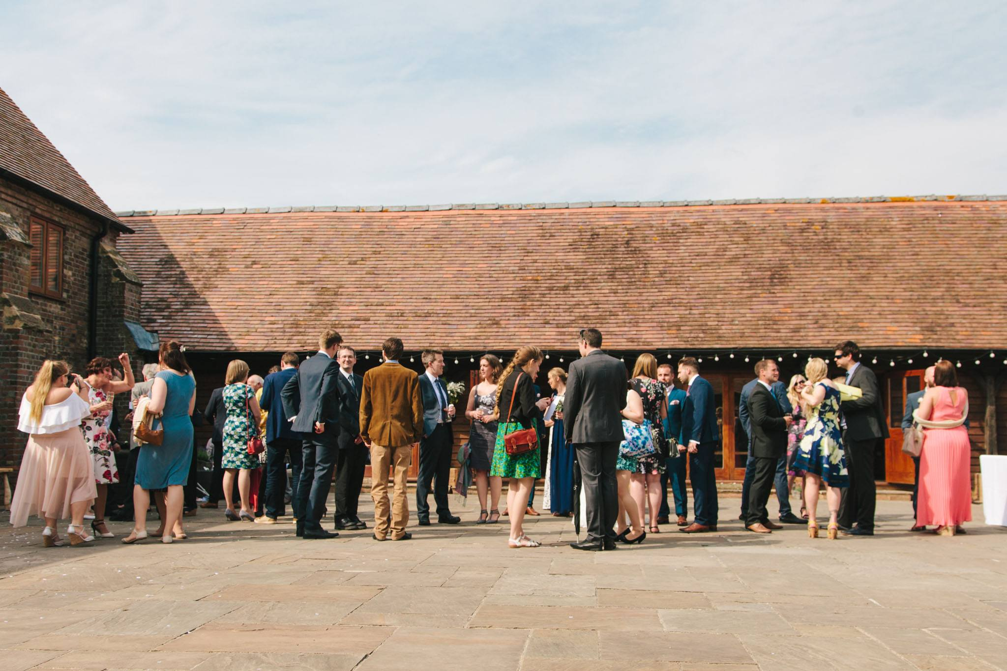 courtyard at long furlong barn, findon, worthing wedding photography