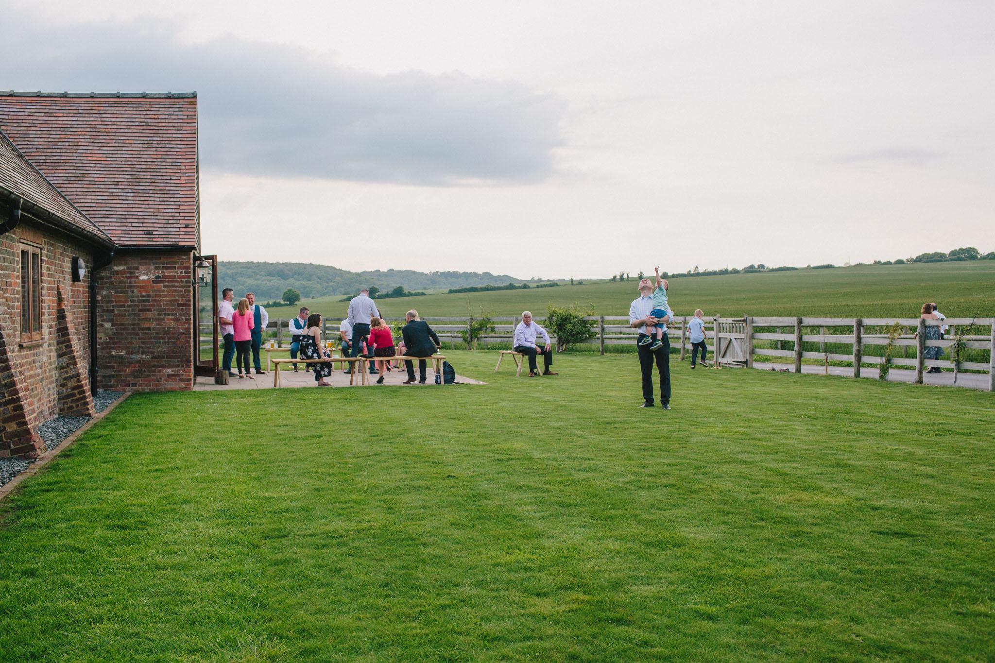 wedding photographers at long furlong barn
