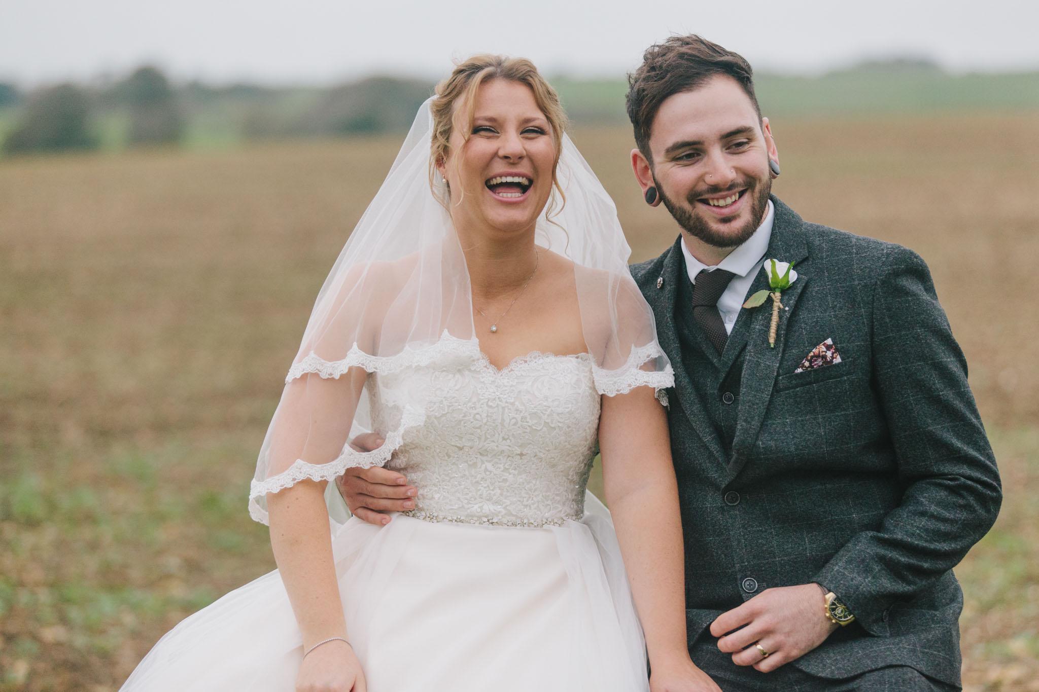 bride and groom portraits at long furlong barn