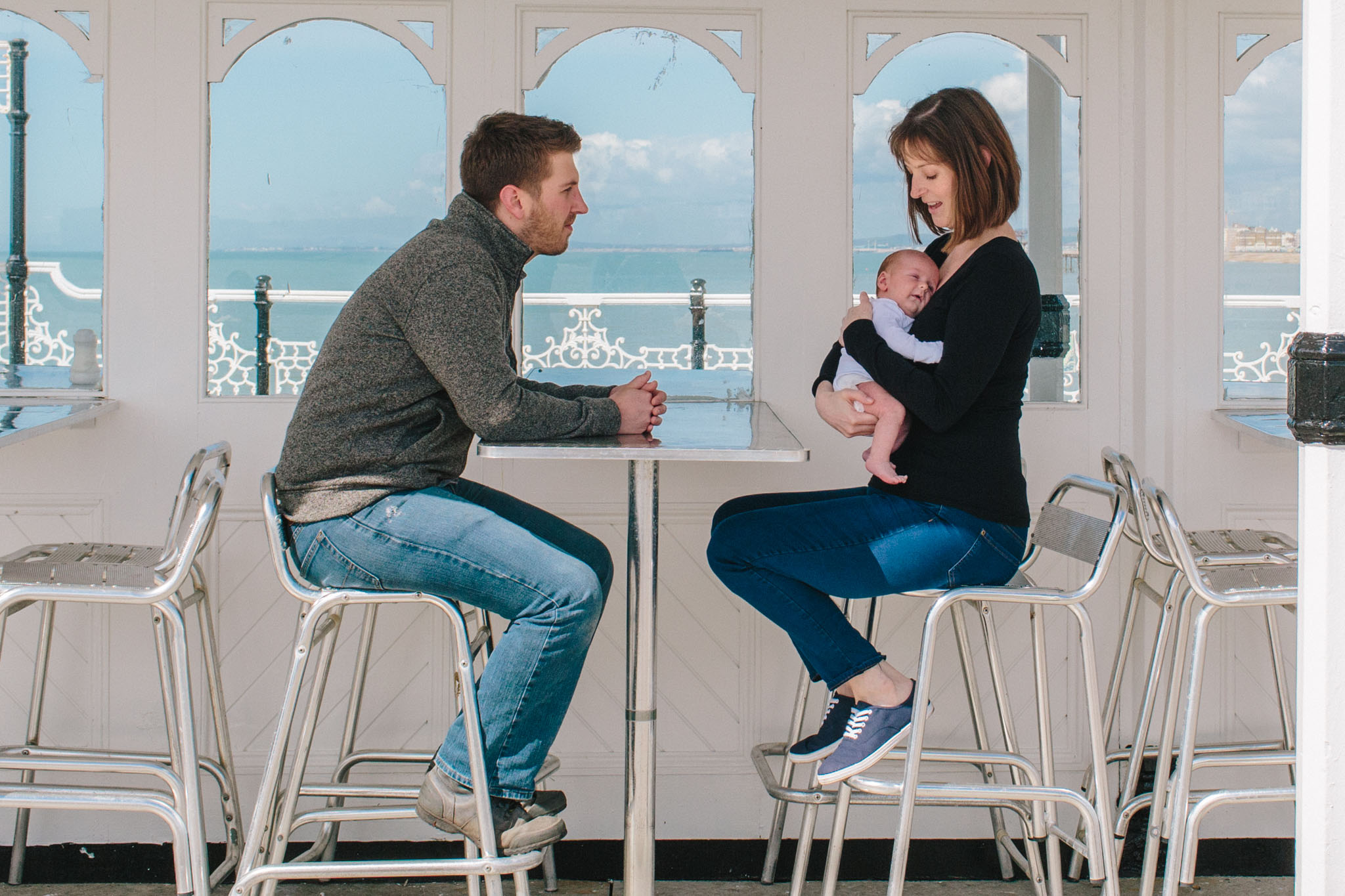 newborn photography on brighton pier