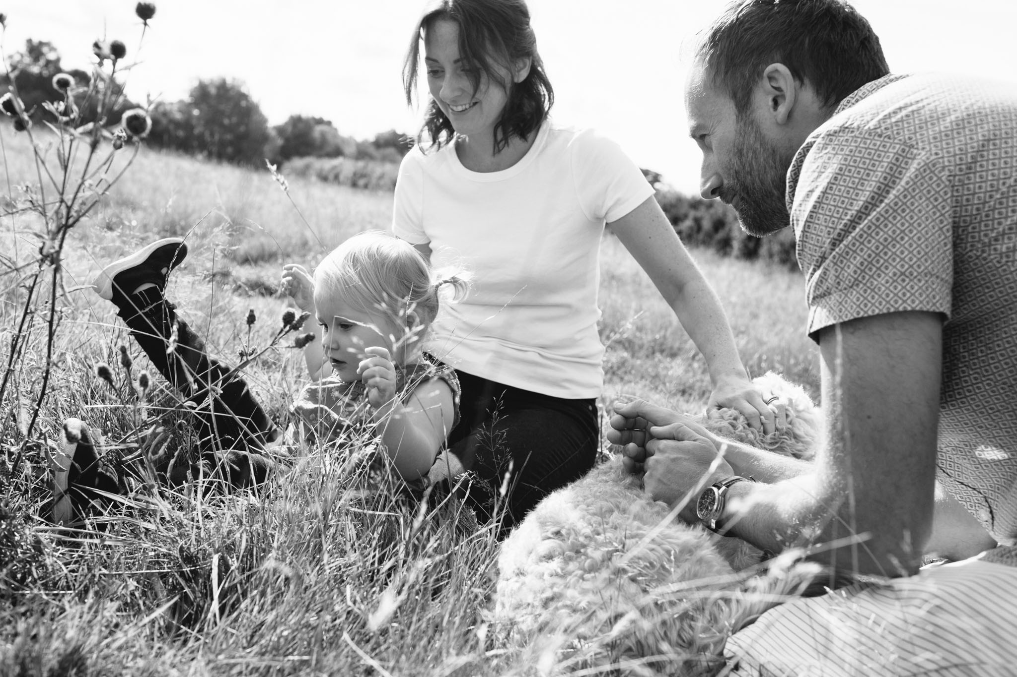 documentary black and white family portrait photographer, horsham, crawley, sussex
