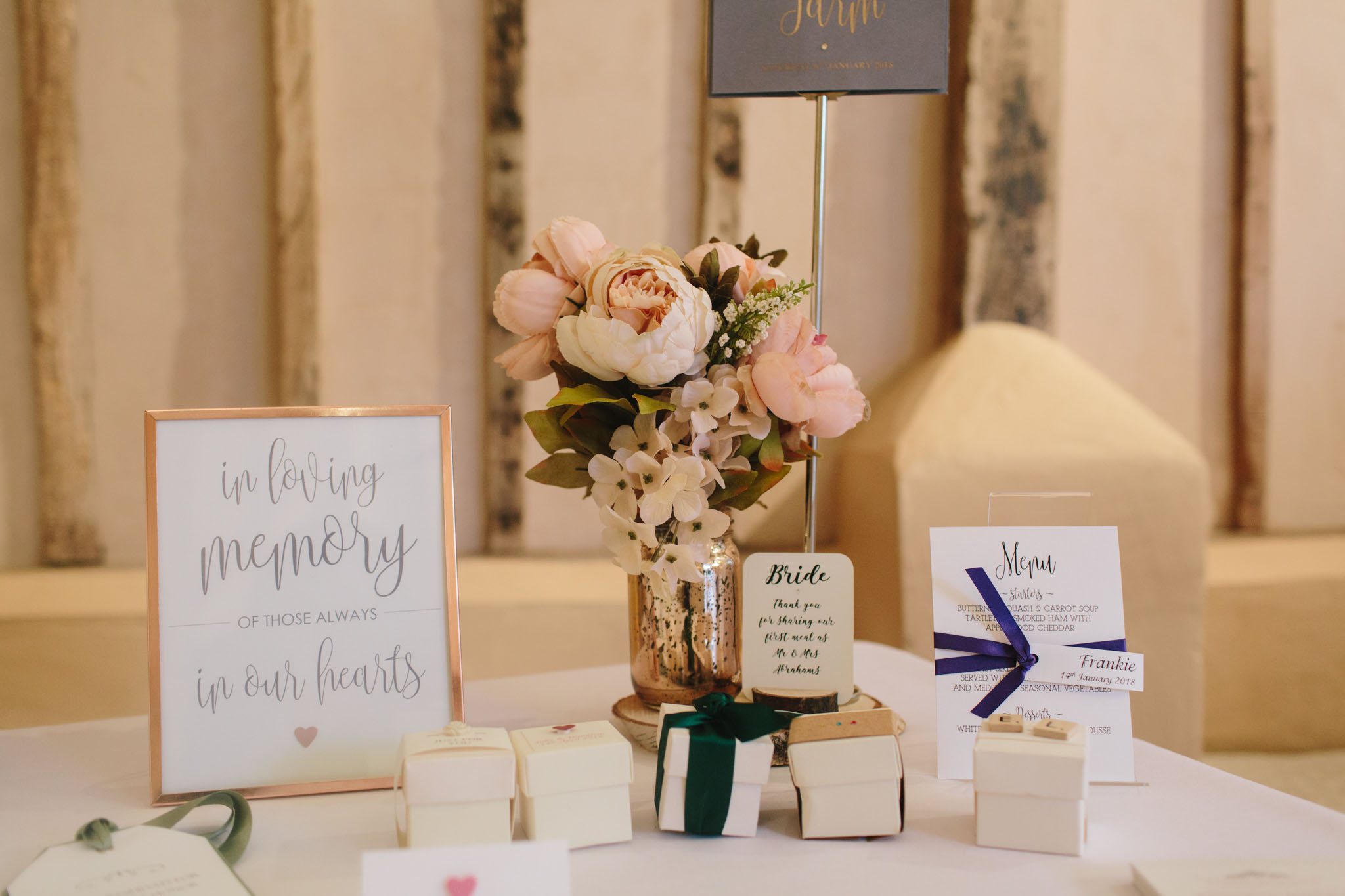 invited with love wedding stationary at upwaltham barns