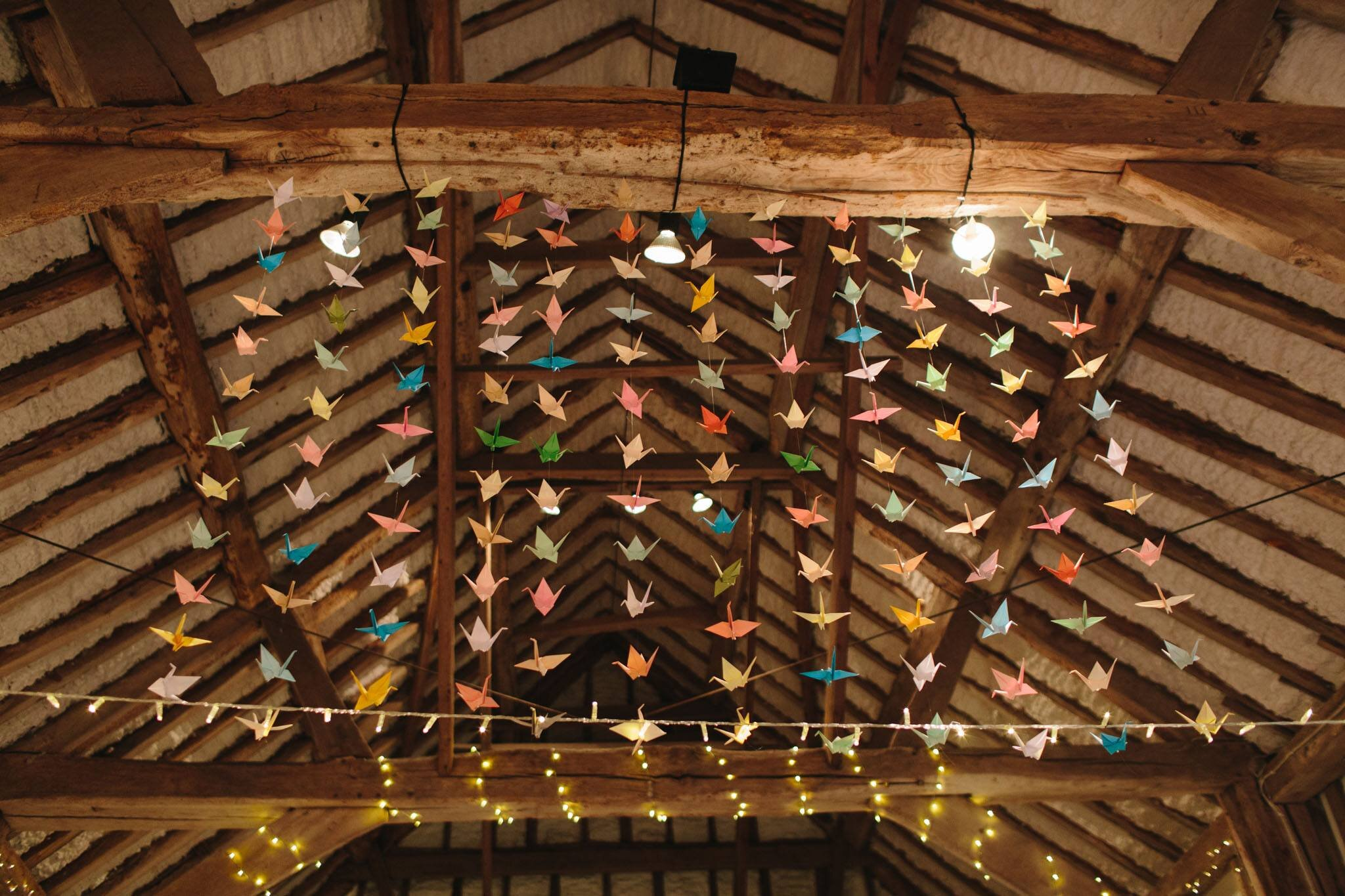 hanging origami wedding decorations