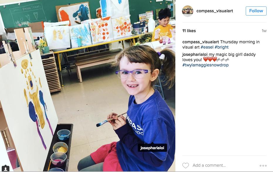 Follow the Compass Art Room on Instagram @compass_visualart