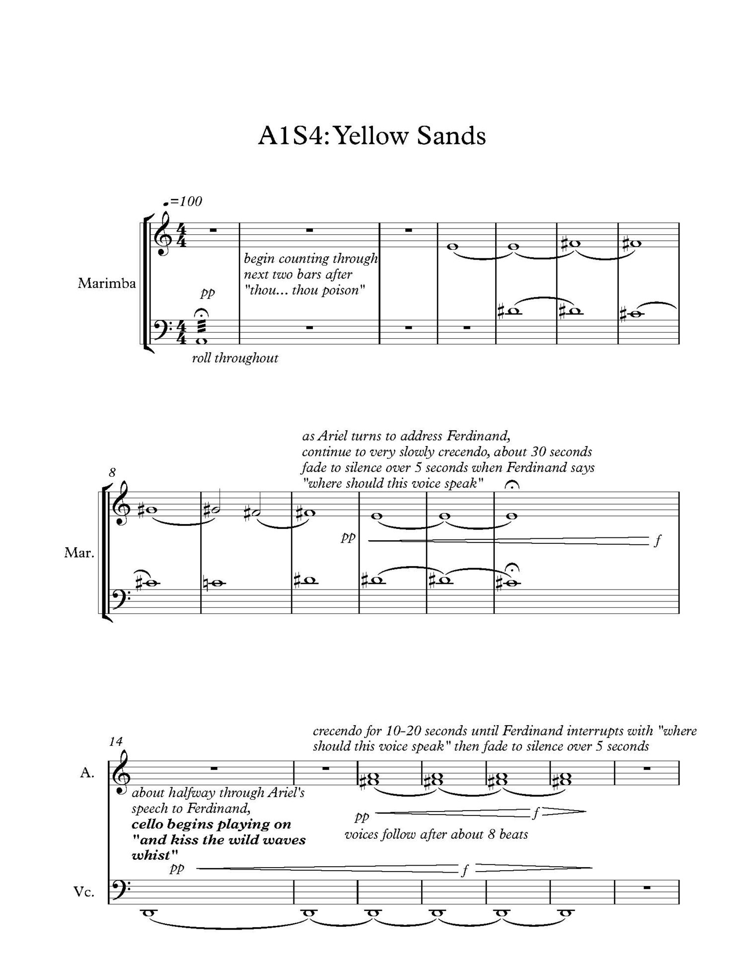 A score that incorporates the flow of the script