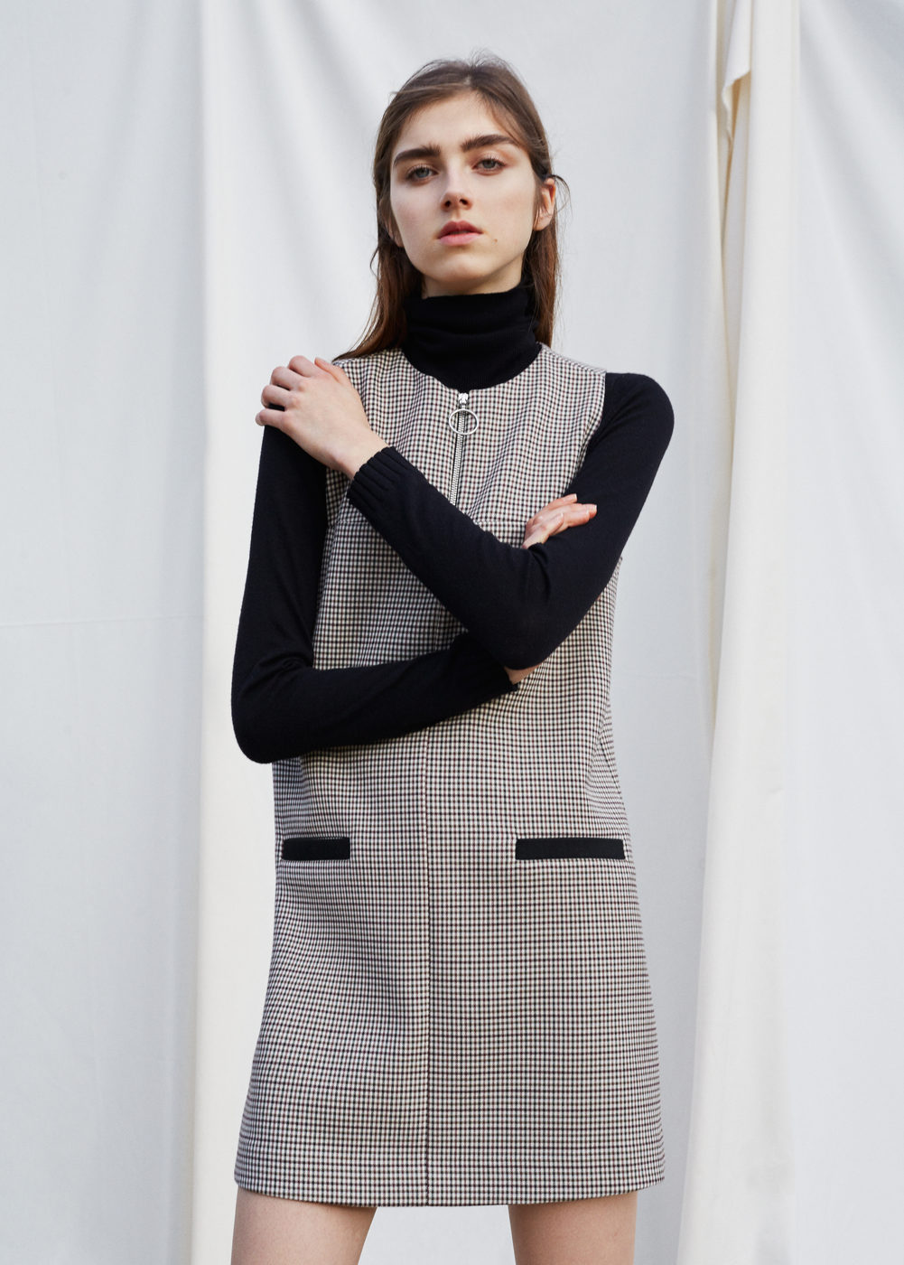 I love the mod rocker vibes of   this dress  . And it's perfect for layering with a turtleneck (aka my uniform all winter) or bell sleeved shirt underneath.