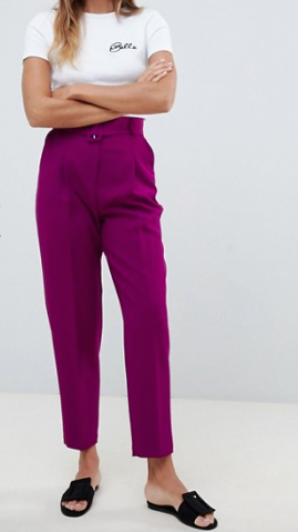 Purple Tapered Pants