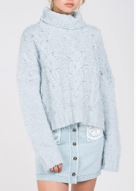 Baby Blue Turtleneck Sweater
