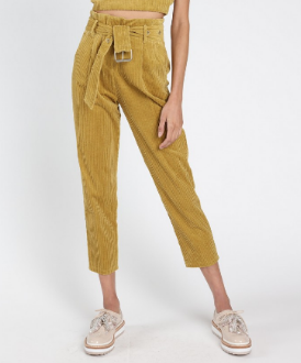 Corduroy High Rise Pants