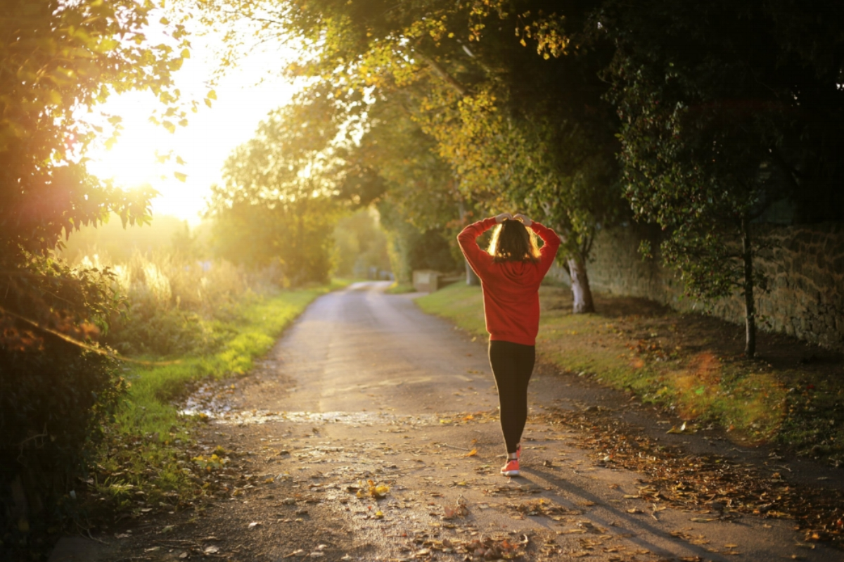 Morning jog in the countryside