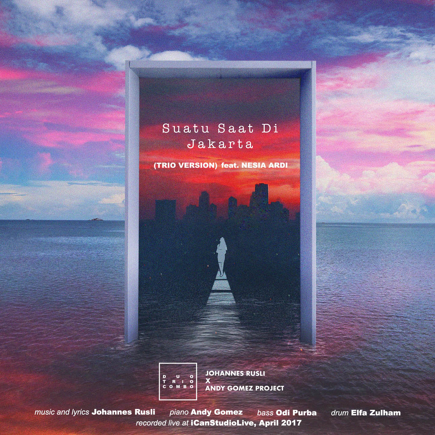 Suatu Saat Di Jakarta feat. Nesia Ardi - Live - Composed by Johannes RusliArrangement by Andy Gomez©2017, Johannes Rusli℗2017, iCanStudioLiveclick to Listen it on iTunesand Spotify