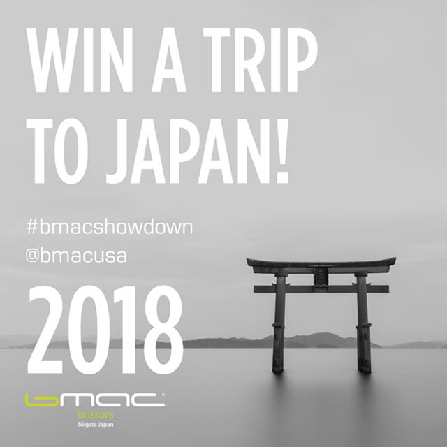 "💚WIN a Trip to Japan - Bmac Showdown 2018💚  #bmacshowdown is BACK . The ULTIMATE contest to cut your way to Japan!  Get your Bmac scissors ready! With such an incredible prize this is not your ordinary contest!  Steps to enter: -You must post a video (From 15 seconds to 1 minute in length) here on IG. Post as many as you like per Monthly topic. -The video must feature Bmac scissors being used to create a cut based on each Months topic. (Including Co-Branded and Student Kits, Bmac scissors)  Showdown begins July 1st, 2018.  July - Topic Short Haircutting video August - Topic Long Haircutting Video September – Curly Haircutting Video  Additional Prizes will be given to monthly favorites, so even if you just enter for one month you have a chance to win great prizes!  Overall winner of trip to Japan must have entered videos in all 3 topics, winners selected by @bmacusa  Only open to US & Canadan stylists. To be eligible to win, you must clearly show your Bmac scissors in the video, follow @bmacusa  Tag your video both @bmacusa and #bmacshowdown . You must also post in all three categories to be eligible for the grand prize trip to Japan.  Prize: During the month of November the winner of the contest will be invited to Japan with Bmac USA. Bmac USA will pay for the round trip airfare, hotels and meals during the trip.  The trip will consist of visiting the Bmac Japan state of the art factory, staying at the traditional Japanese hotel, ""Ryokan"", visiting top salons in Tokyo, invite to a prestigious haircutting event, meeting with Japanese top stylists, and tours of modern and traditional places in Japan.  If you don't own Bmac USA scissors, you can visit our website at www.bmac.pro to shop and place an order.  Trip to Japan will be early November. Contest has no cash value and prizes are non transferable.  Contact us if you have any questions. info@bmac.pro  FULL DETAILS: https://www.bmac.pro/news/2018/6/1/bmac-showdown-2018-win-a-trip-to-japan  #bmacshowdown #bmacscissors #bmacusa #win #triptojapan #winatrip #stylists #haircut #hairstylist #instahair #instalike #instalove #bmacusa #bmacjapan @bmacjapan"