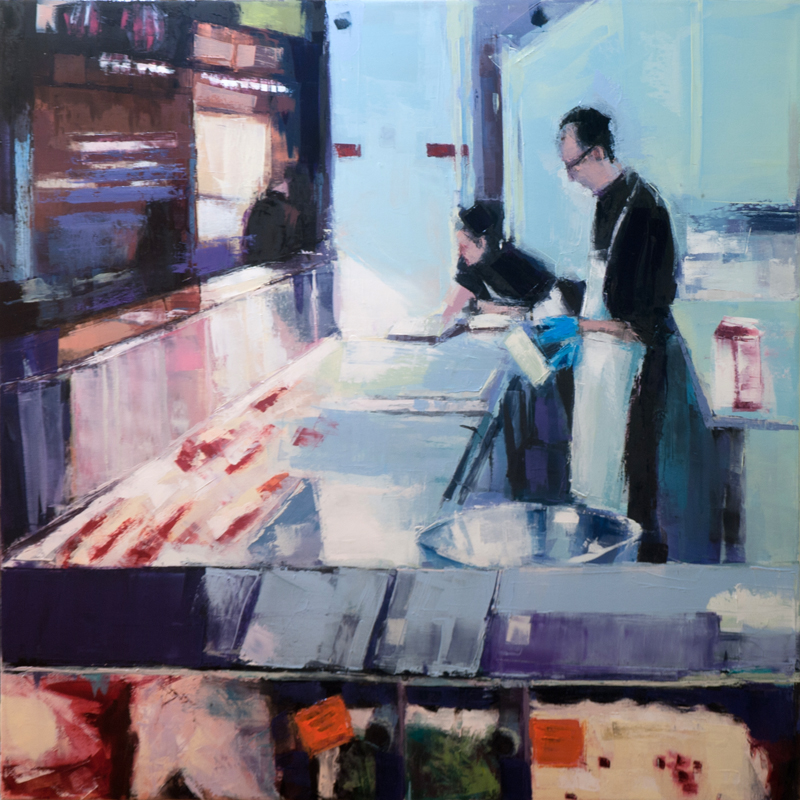 atwater butcher - 36x36 inches - oil on canvas - 2014