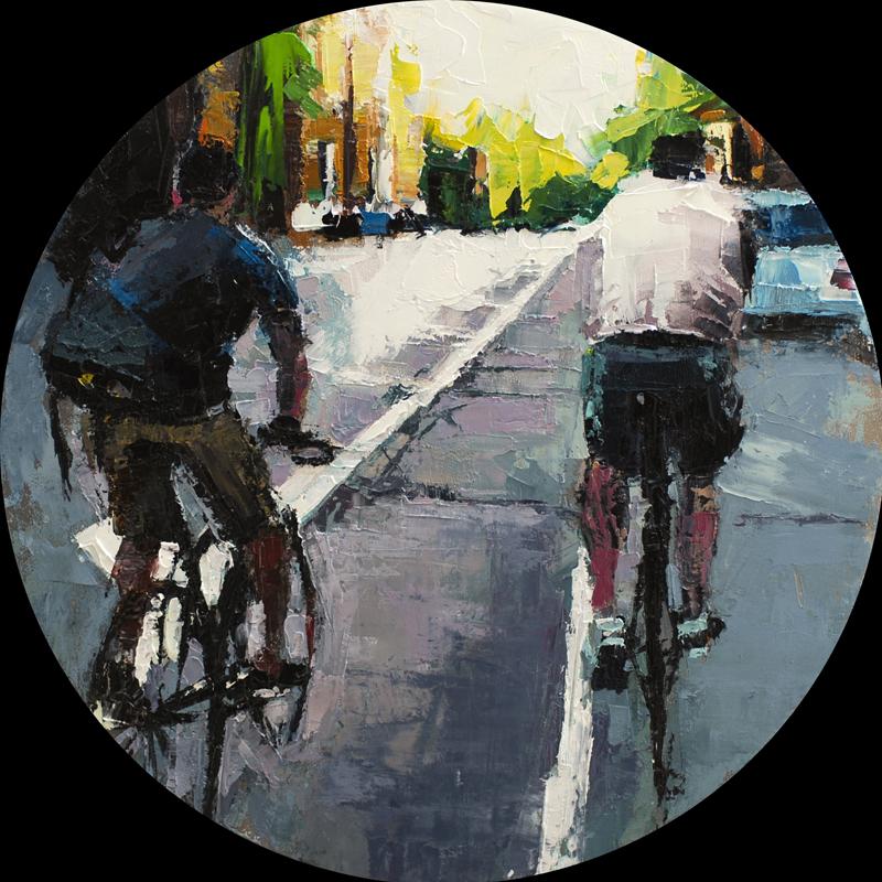 SAQ run - 12x12 inches - oil on canvas - 2014