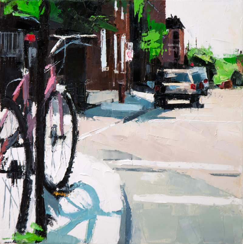 plateau bike - 12x12 inches - oil on canvas - 2013