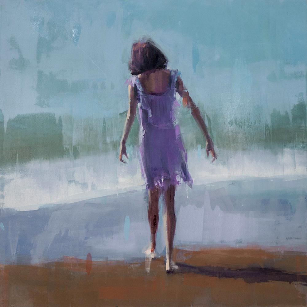 beach bare feet - 40x40 inches - oil on canvas - 2017
