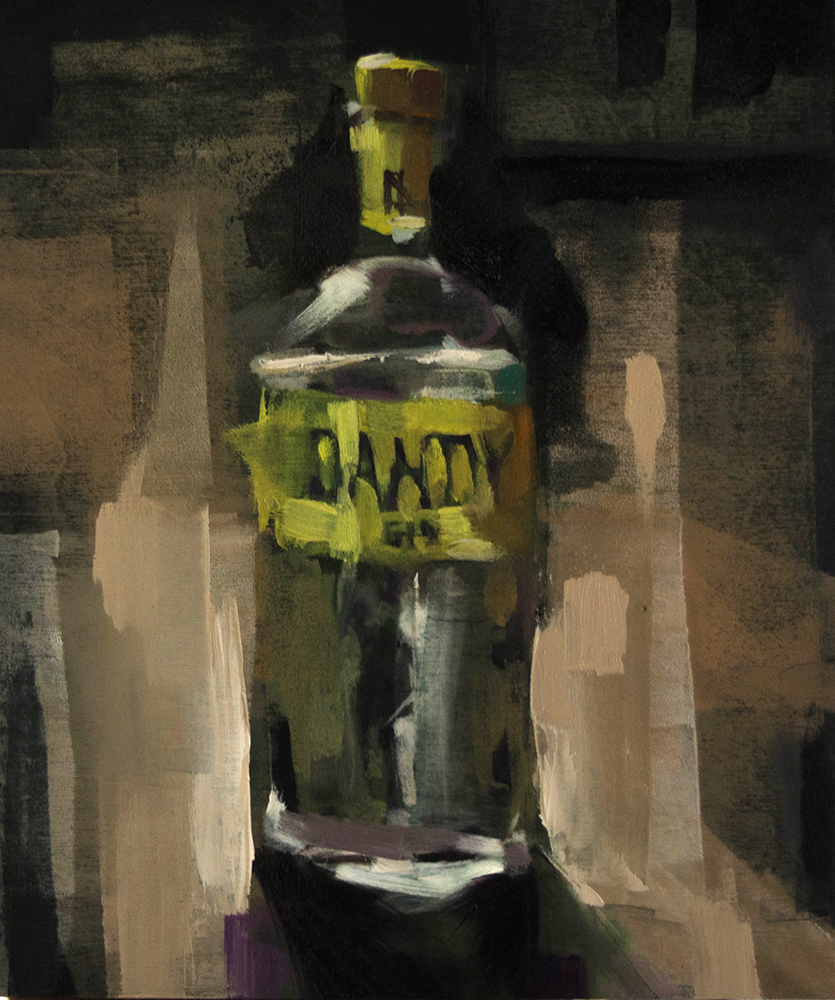 Yvette's Gin - 10x12 inches - oil on wood board - 2017