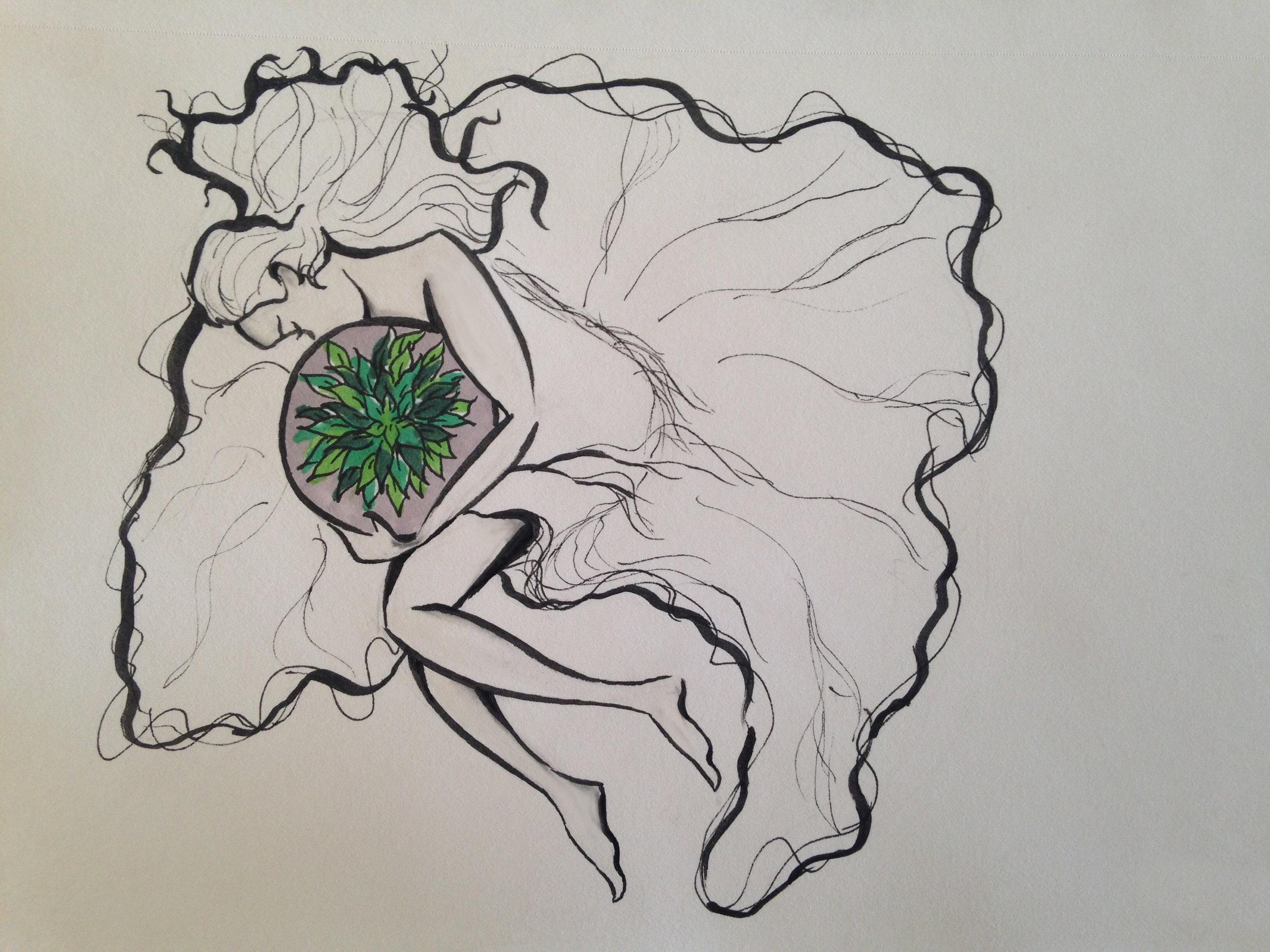 Marker on 5.5x8.5 sketchbook paper