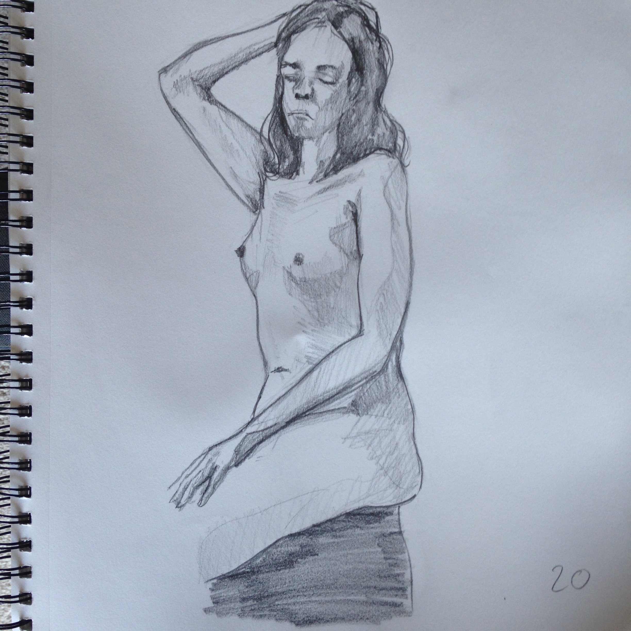 Life Drawing - Pencil on 11x14 sketchbook paper
