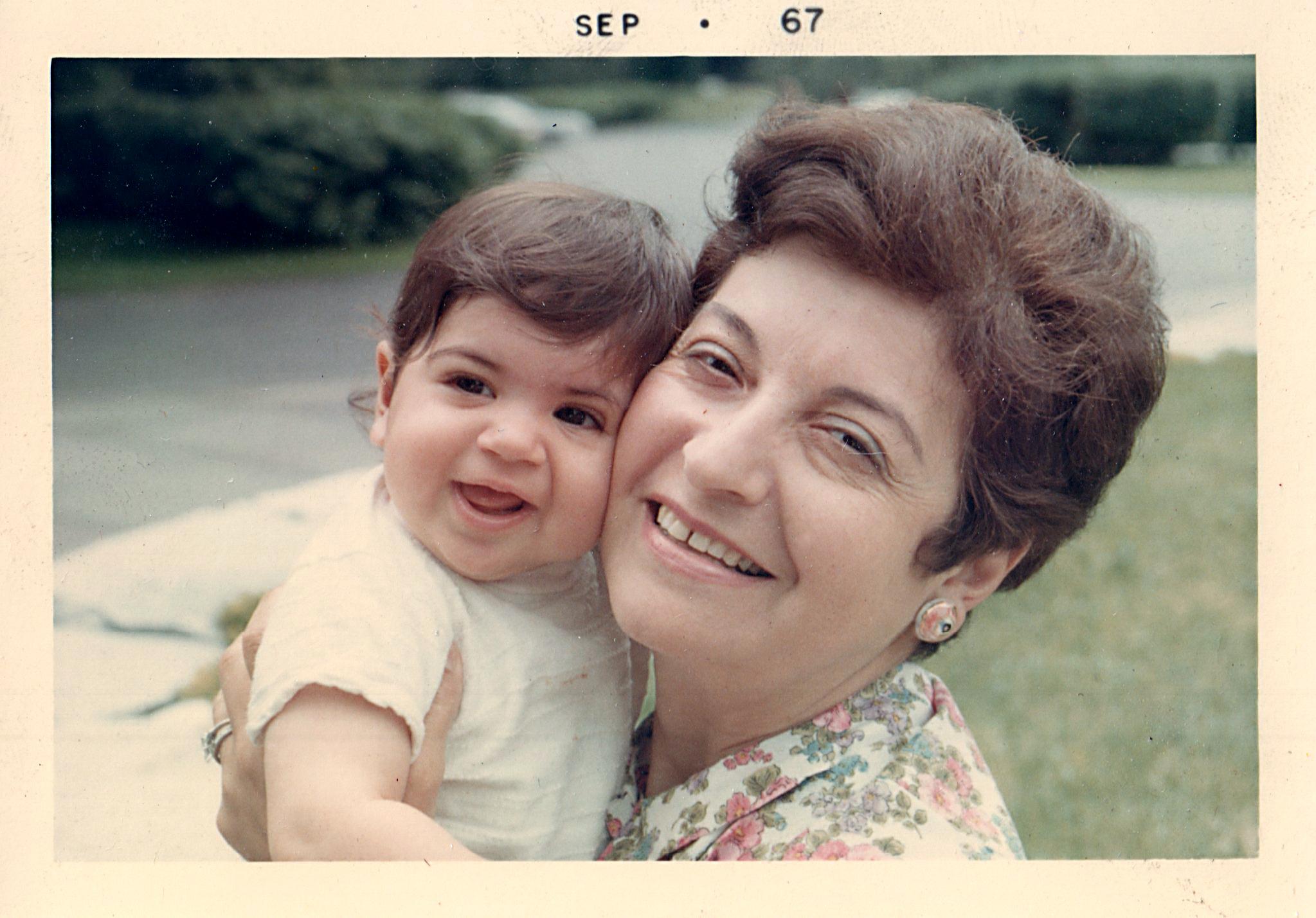 Jennifer and Grandma Fritzie, 1967.