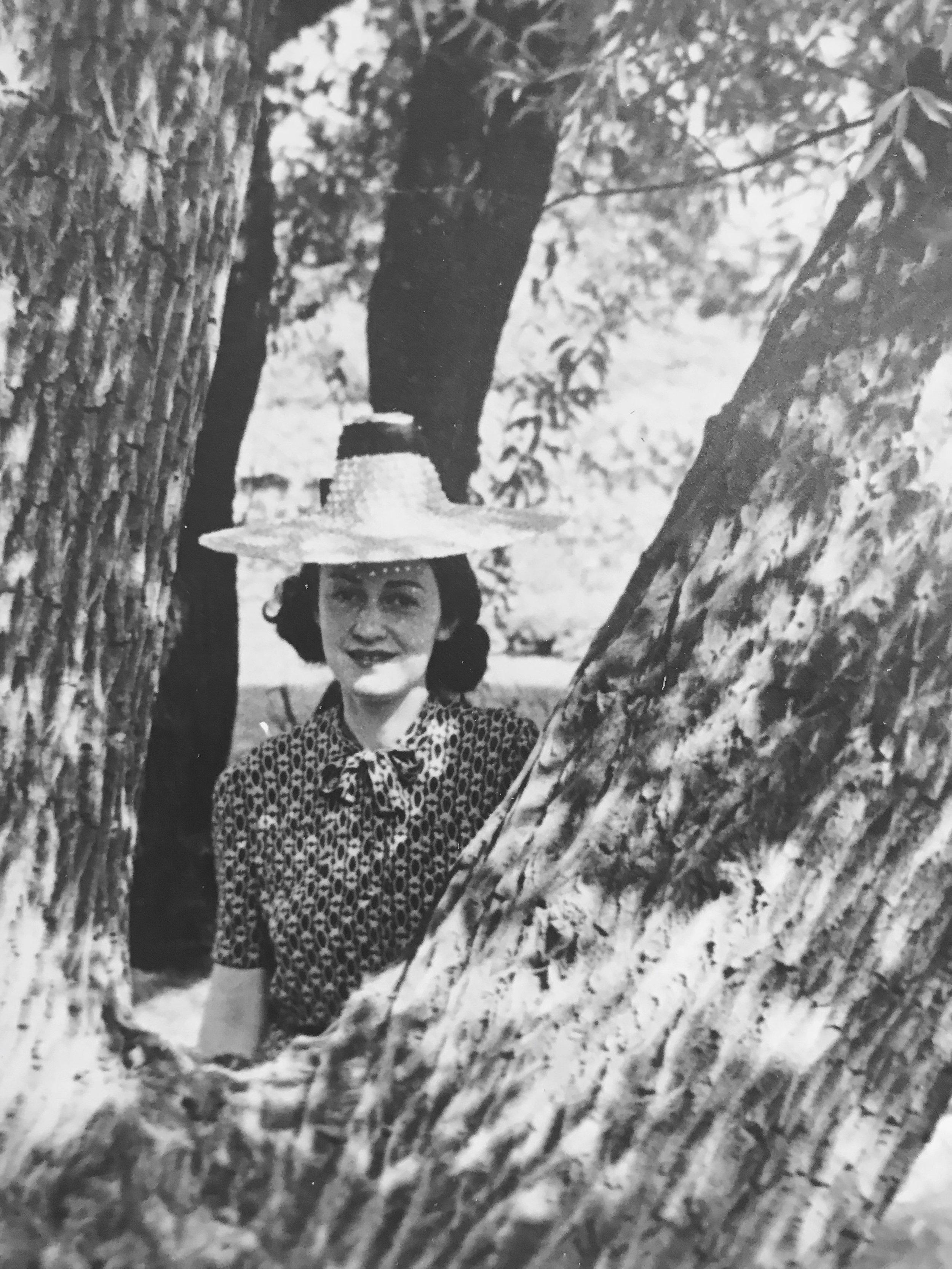 Bertie in Prospect Park, 1939.