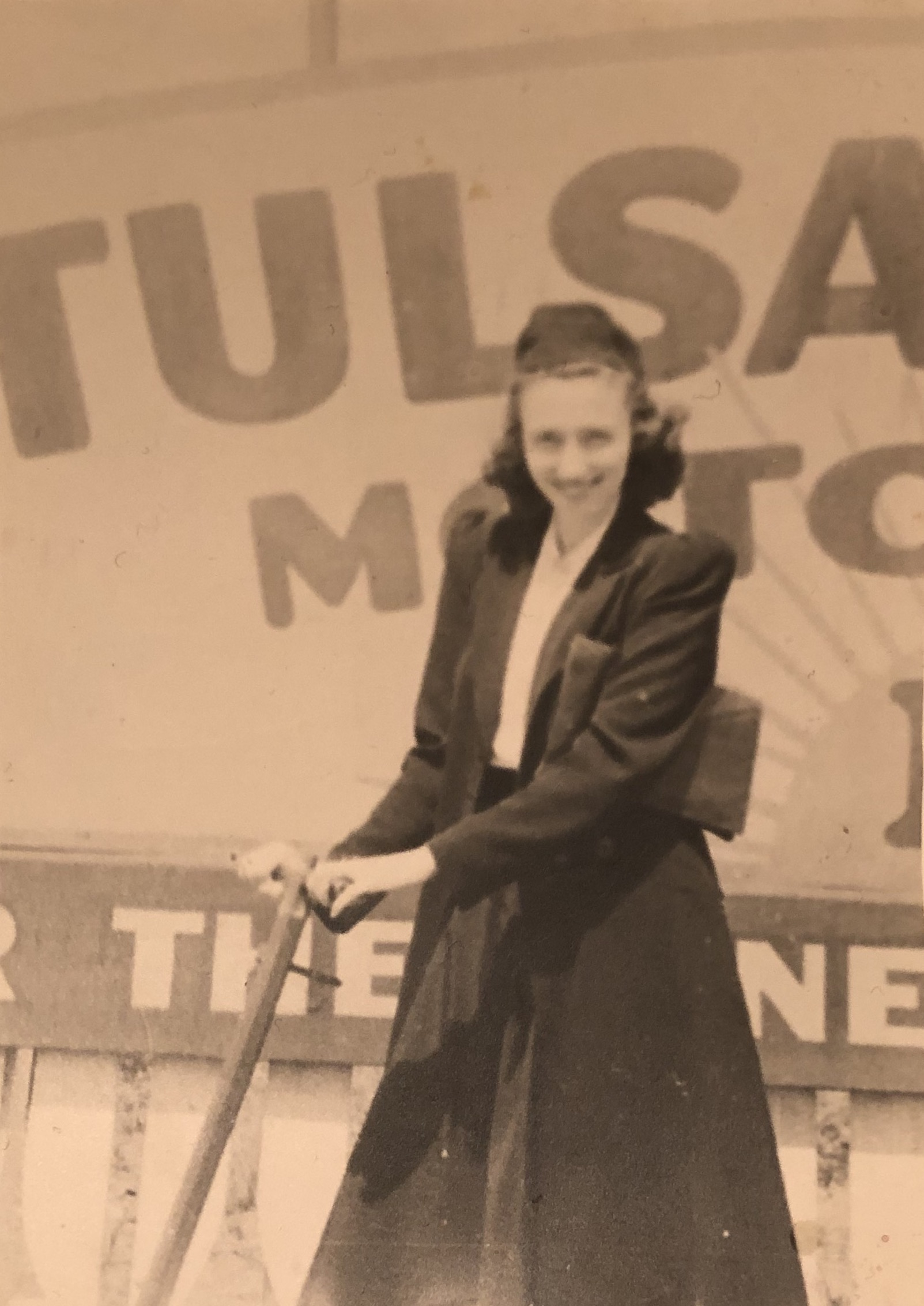 Ruth during her college years, 1936.