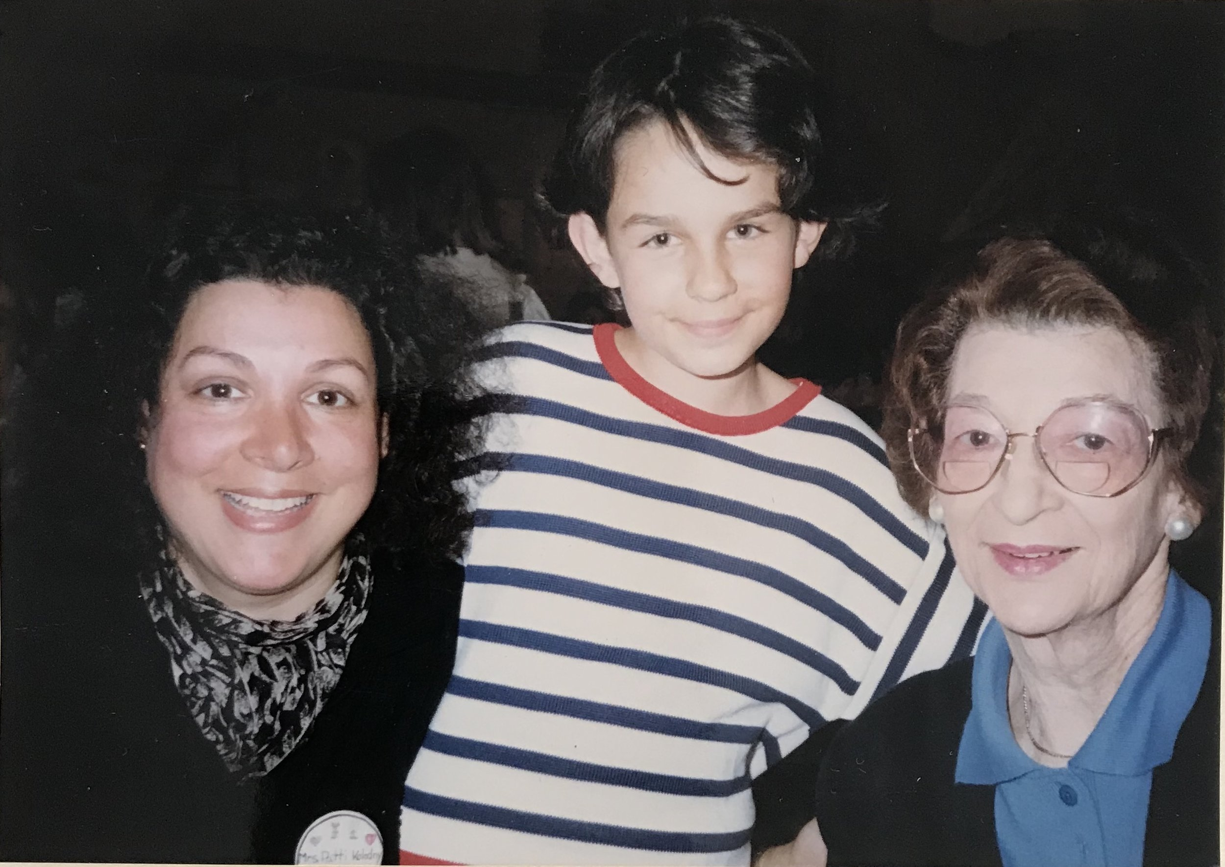 Patti, Johanna, and Evelyn at the Grandmother's Lunch at Chapin School, Princeton, NJ, 1986