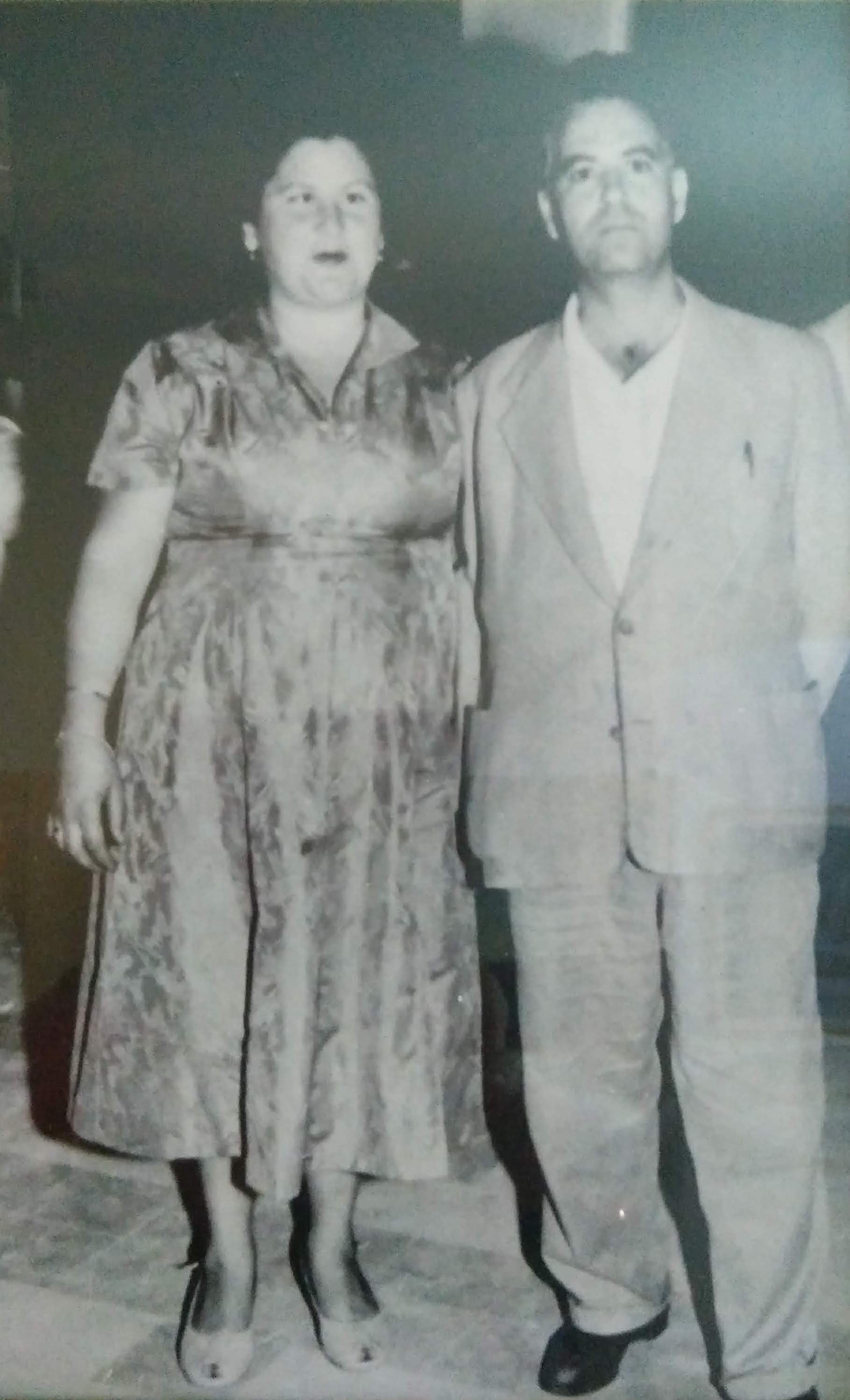 Nitza's parents, Maloo and Shimon, in Israel, 1950.