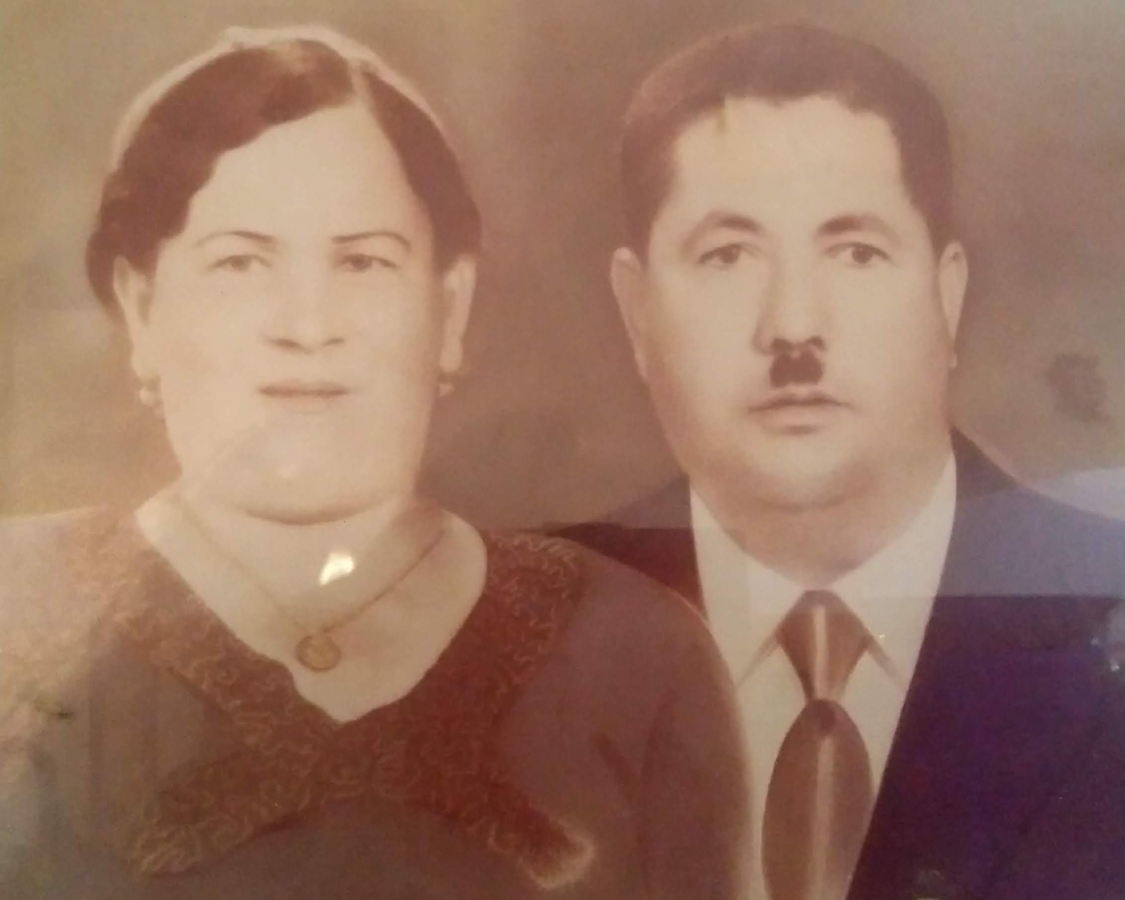 Nitza's grandmother, Sara and grandfather, Yosef in Libya, 1930.