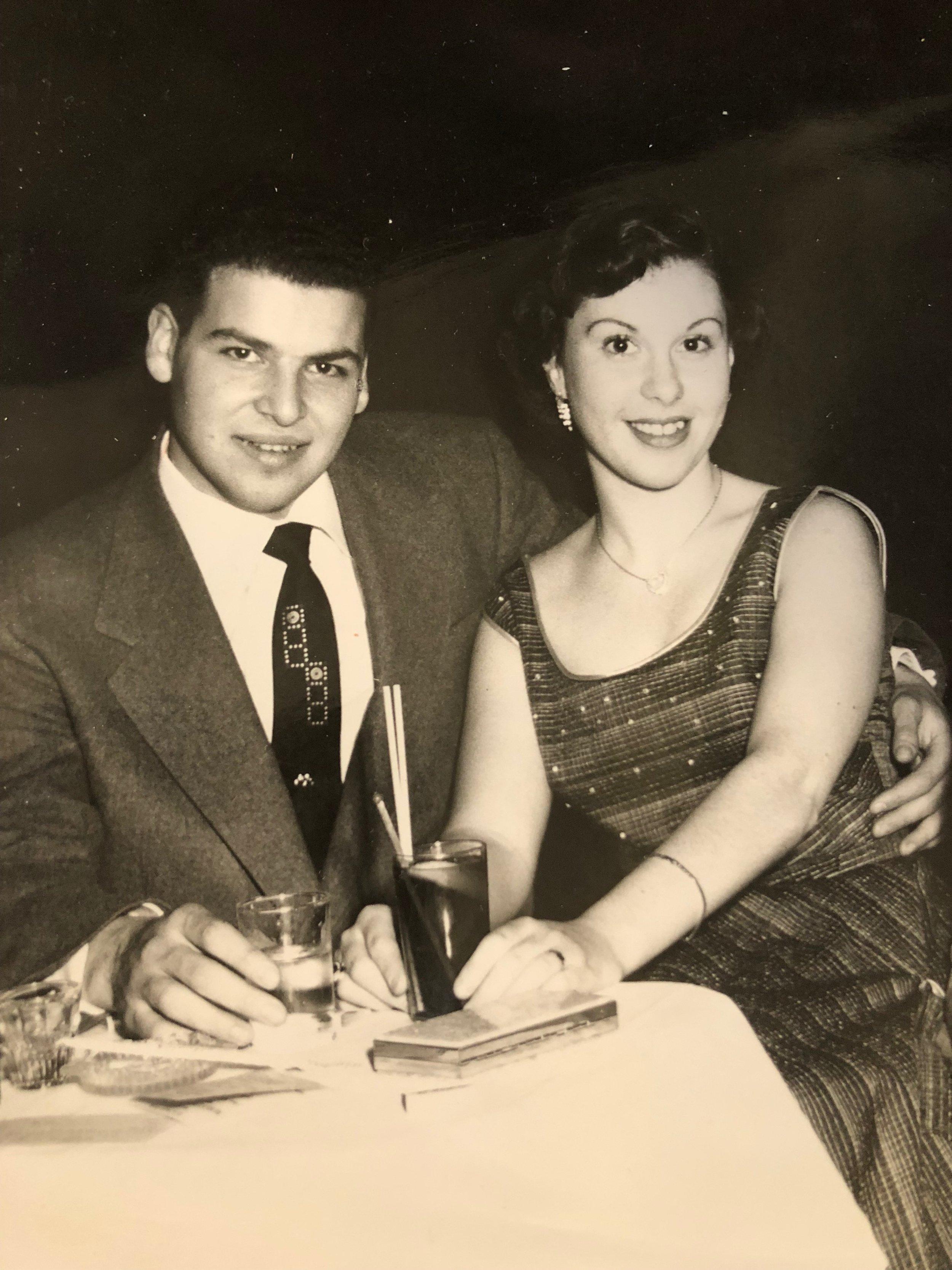Shelly and Carol Miller, Manhattan, 1954.