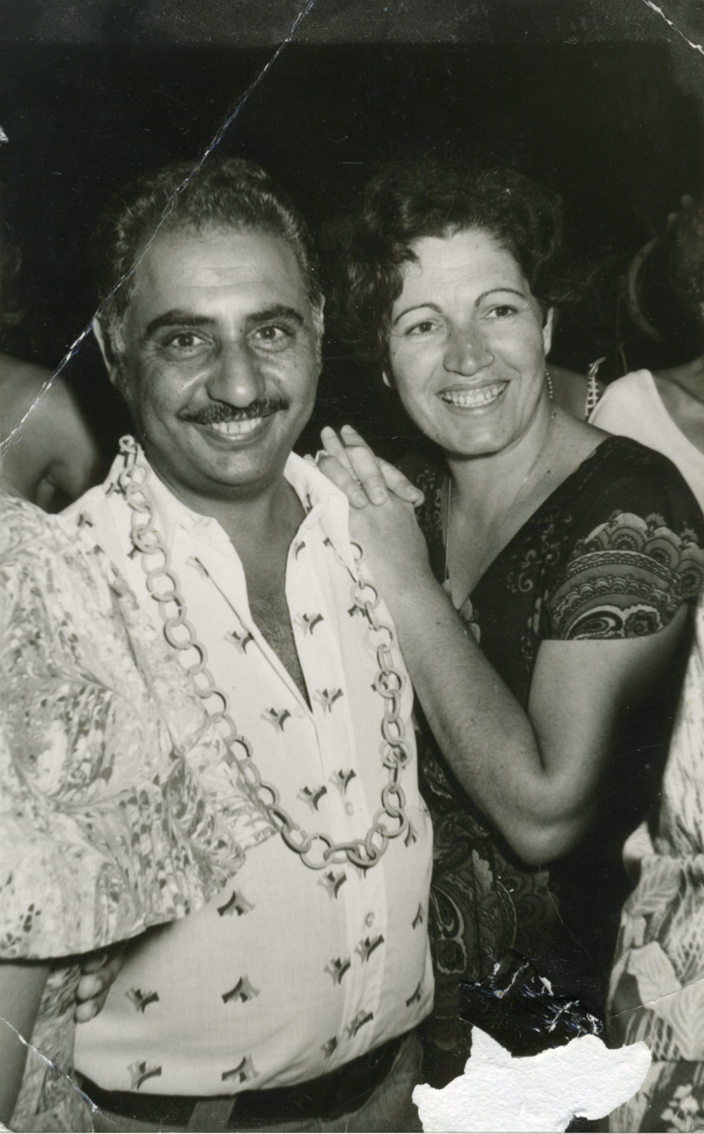 Einat's parents, Ziona and Menashe Admony, at a celebration in Giva'tayim, Israel in the early 1970's.