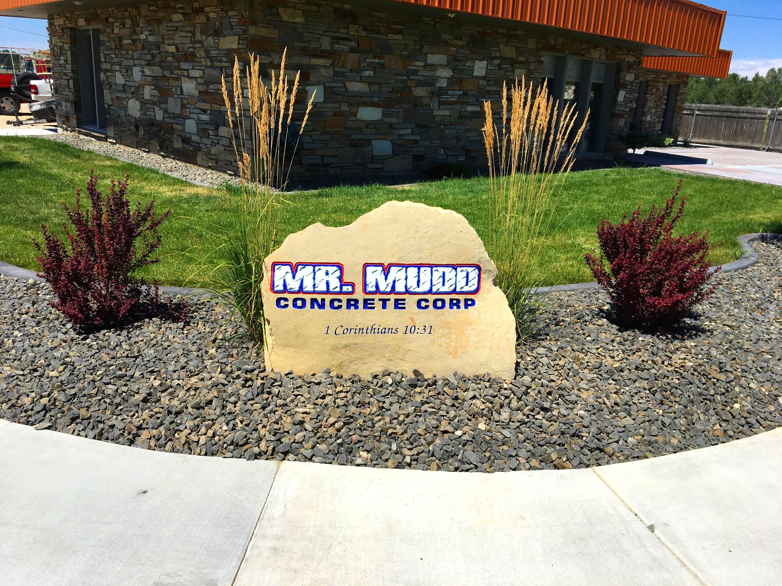 Business Entrance Sign