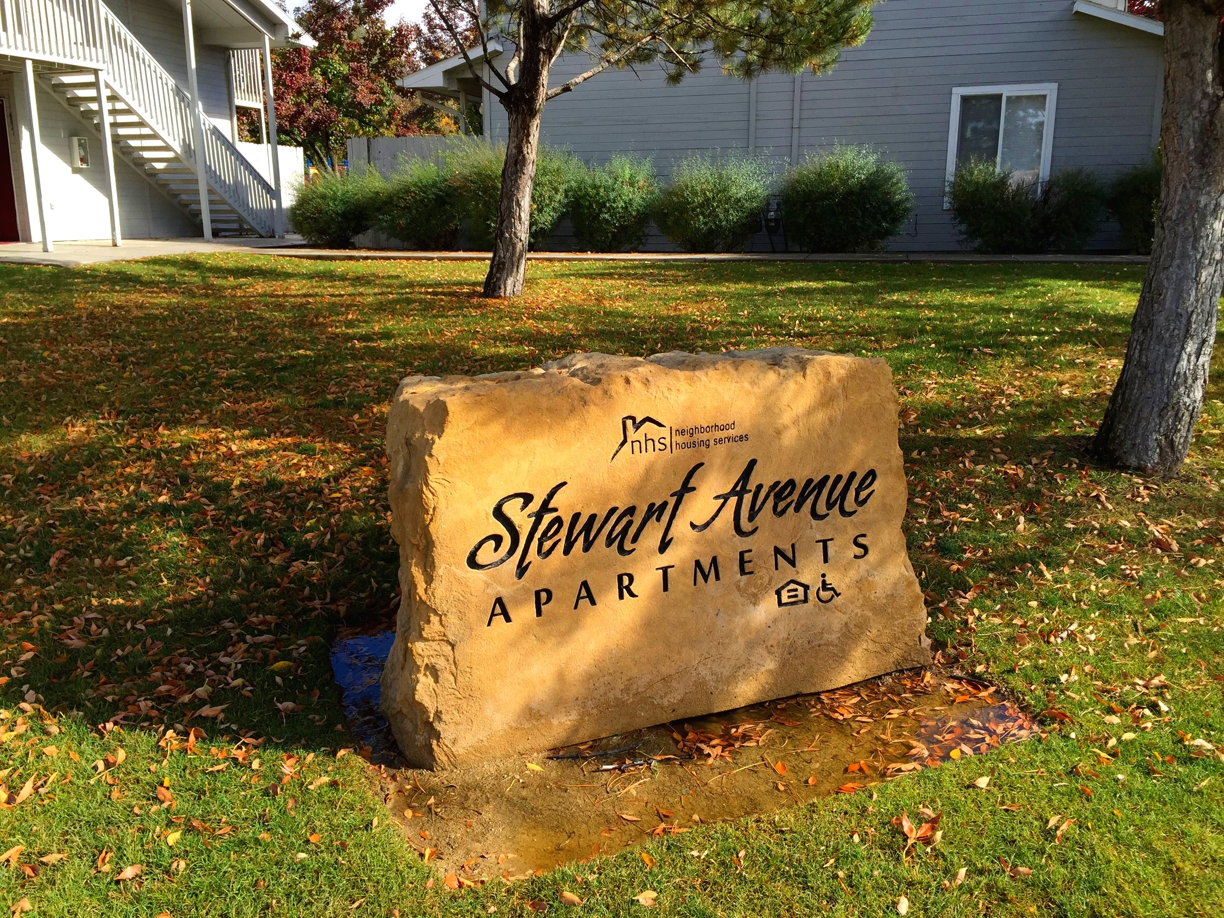 Apartment Entrance Sign
