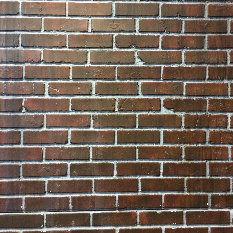 Faux brick backdrop