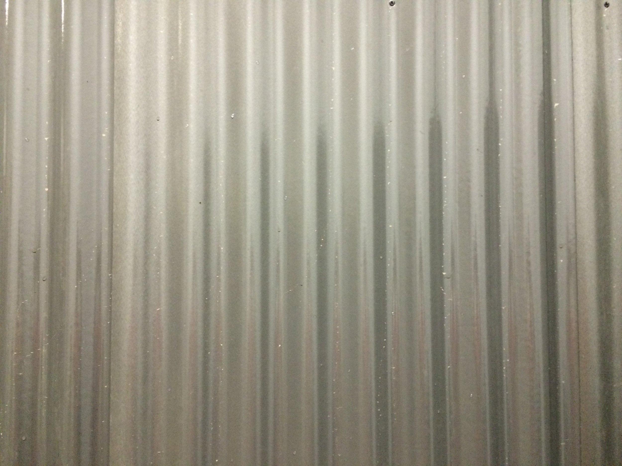 Faux corrugate metal backdrop