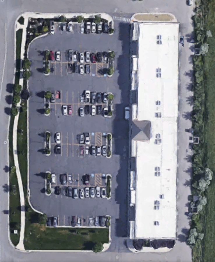 There's plenty of parking for you, your crew, and your clients!