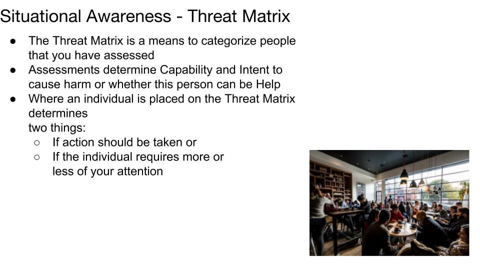 Threat Matrix p 1