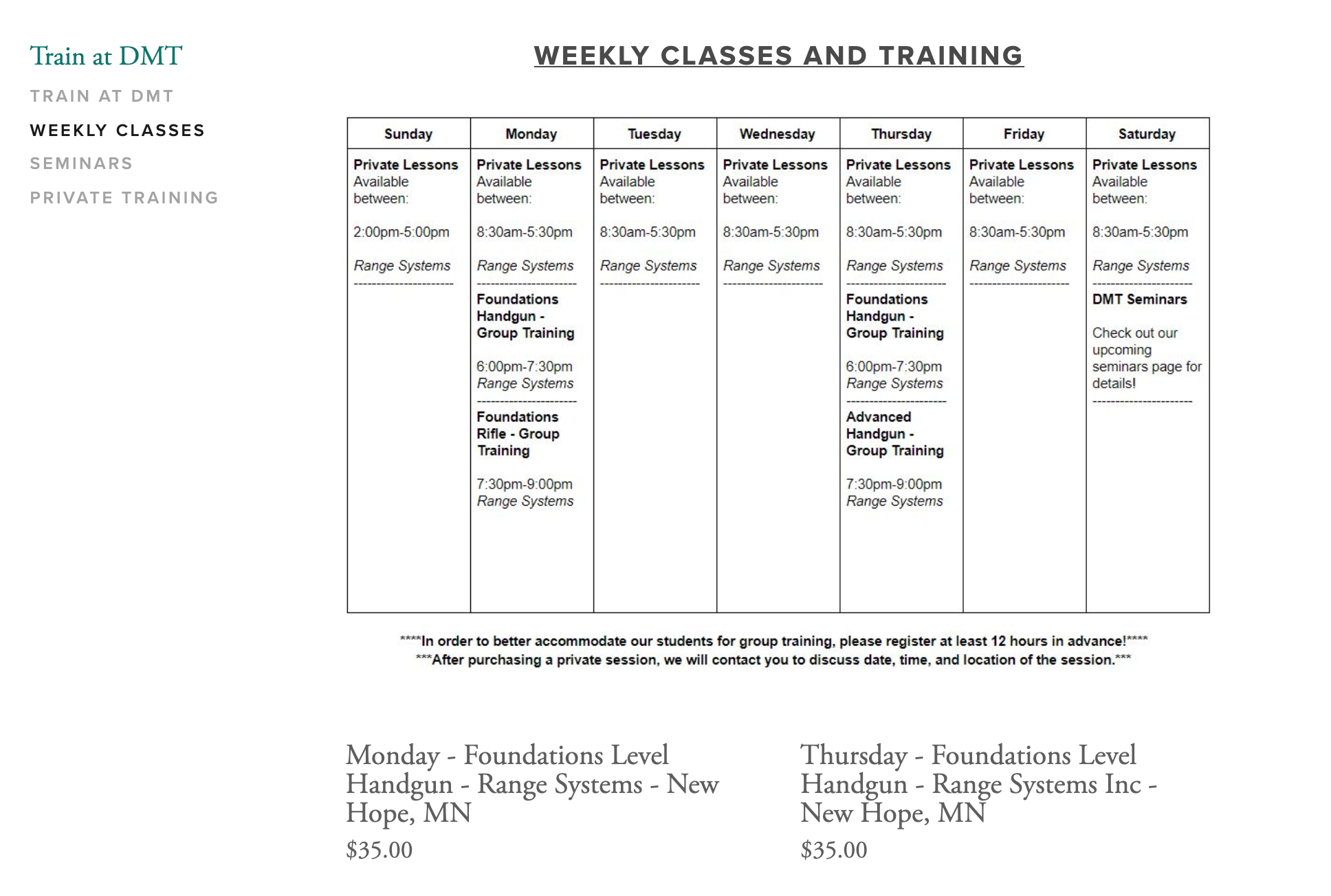 Weekly Classes Sign Up Pic