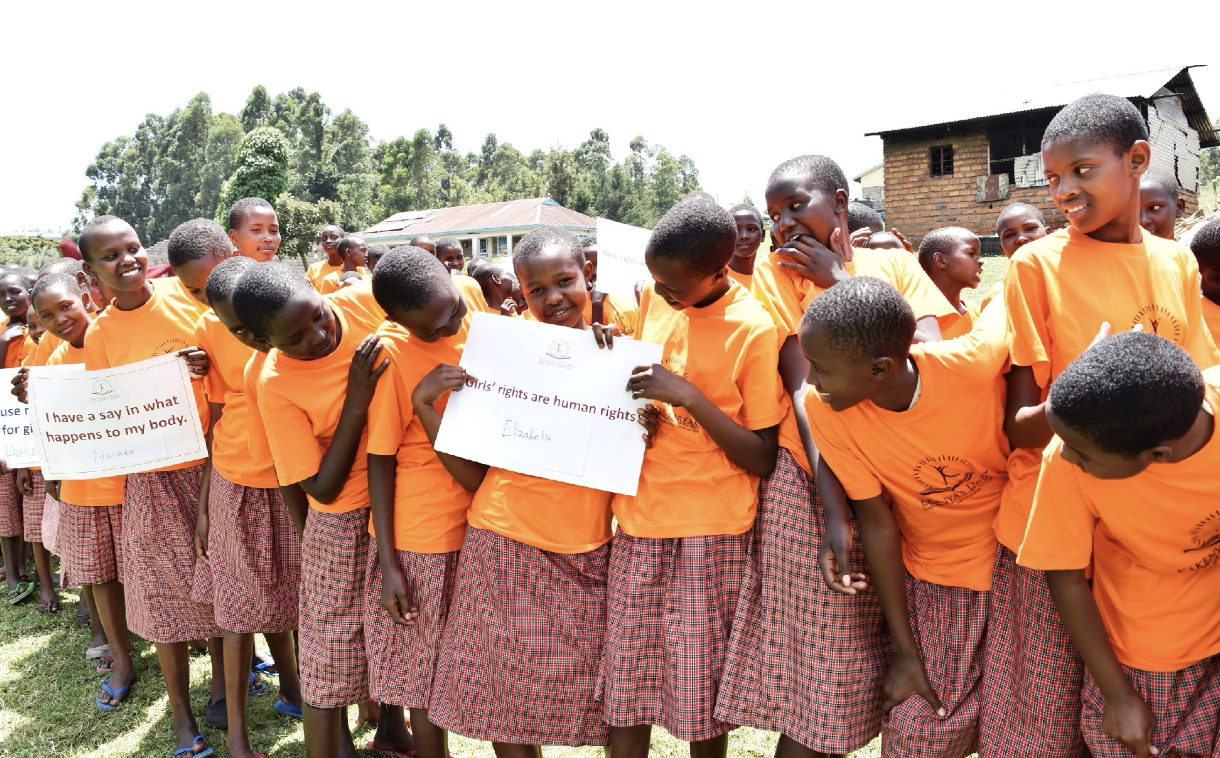 Students at the Kakenya Center for Excellence mark International Day of Zero Tolerance for FGM. Parents, guardians, and community leaders also participated to reaffirm their commitment to ending the practice this generation.