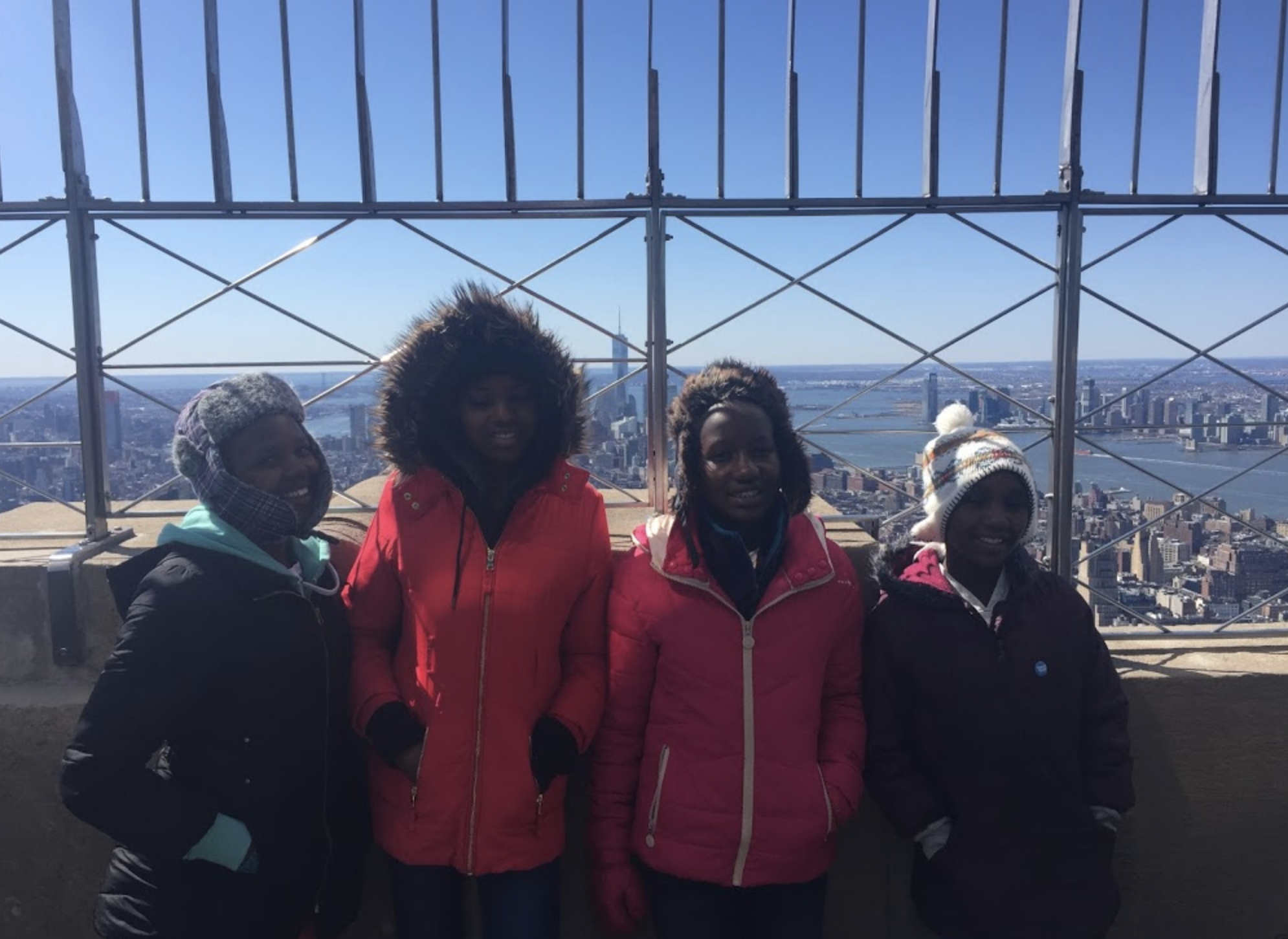 Taking in NYC on top of the Empire State Building!