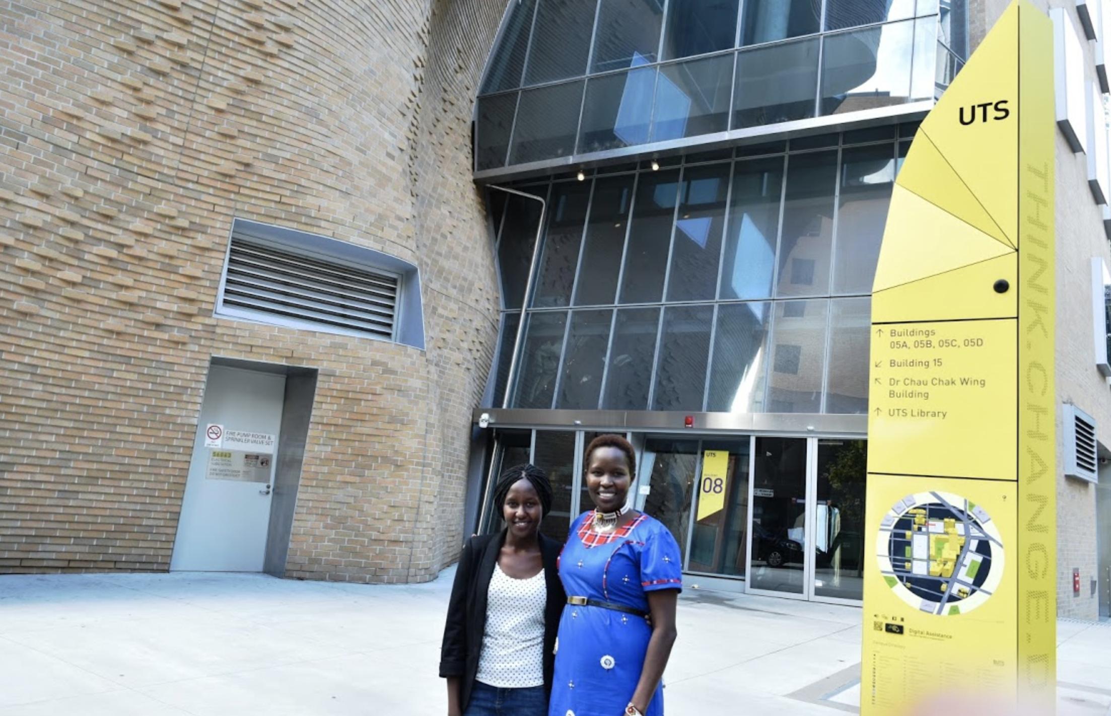 Sharon and Kakenya visit University of Technology Sydney