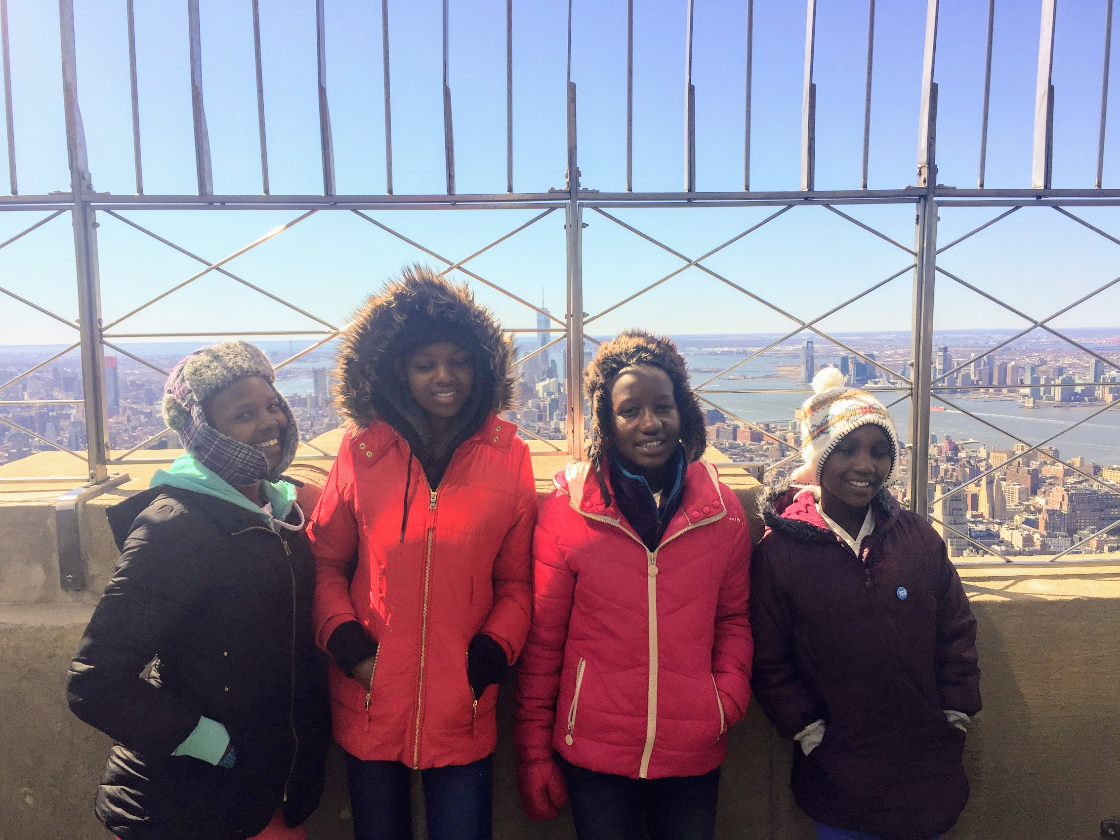 The girls at the top of the Empire State Building. It was one of the trip's highlights!