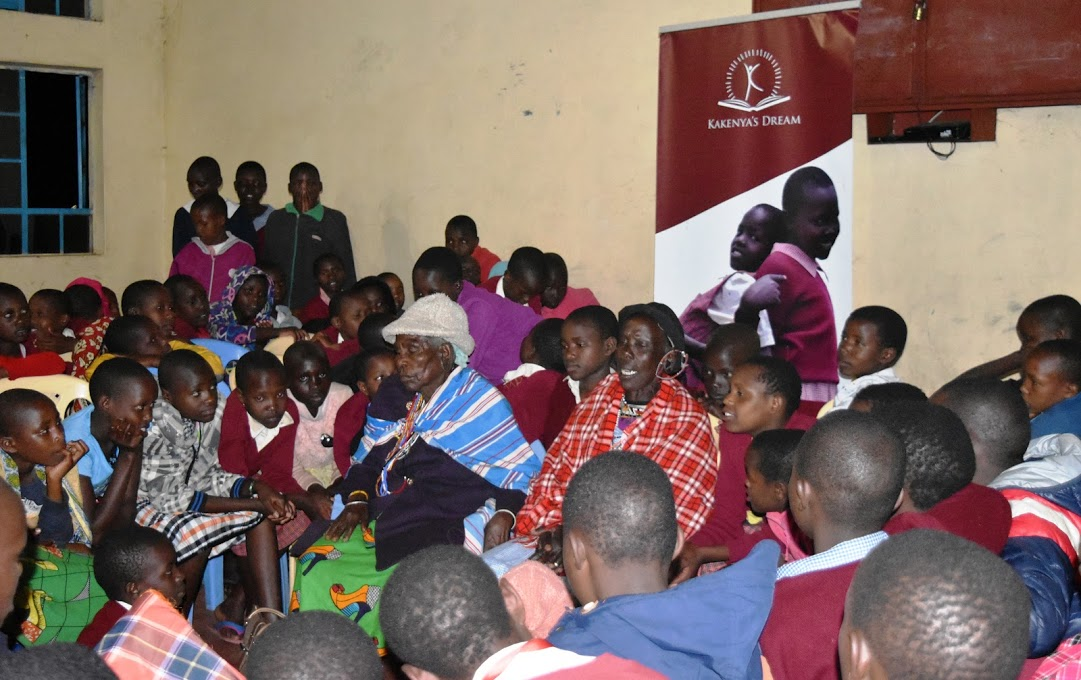 Grandmothers from the community come to share traditional stories and support the girls. Storytelling is an important part of preserving and celebrating Maasai culture.