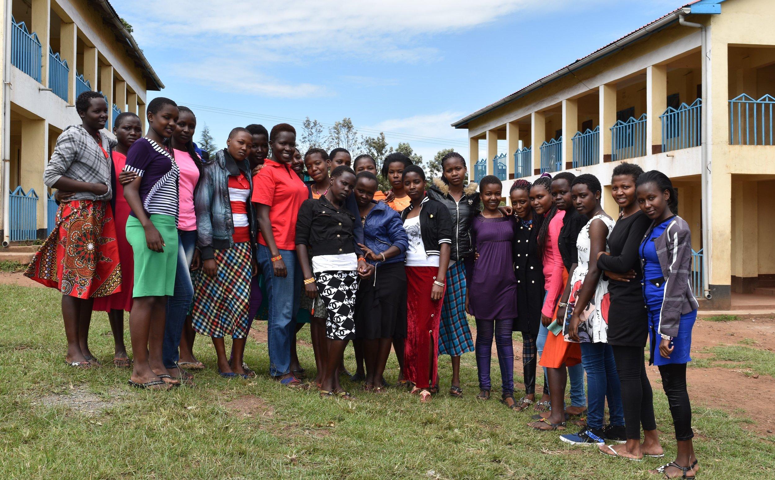 DR Kakenya and the girls joining universities.JPG