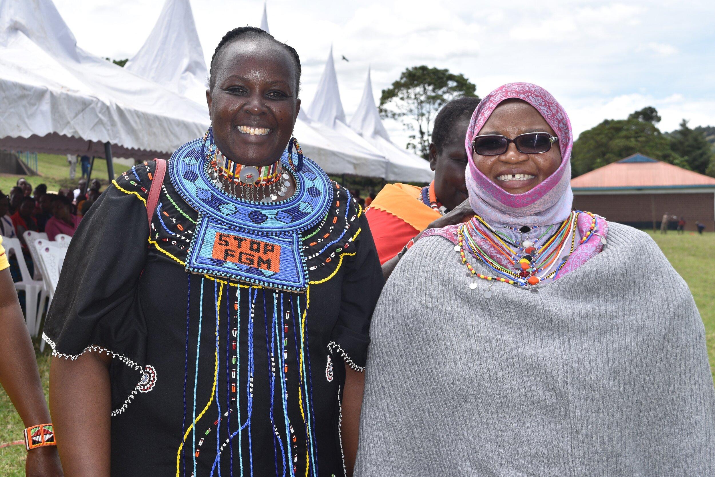 Bernadette Loloju (left), and P.S. Safina Kwekwe (right).