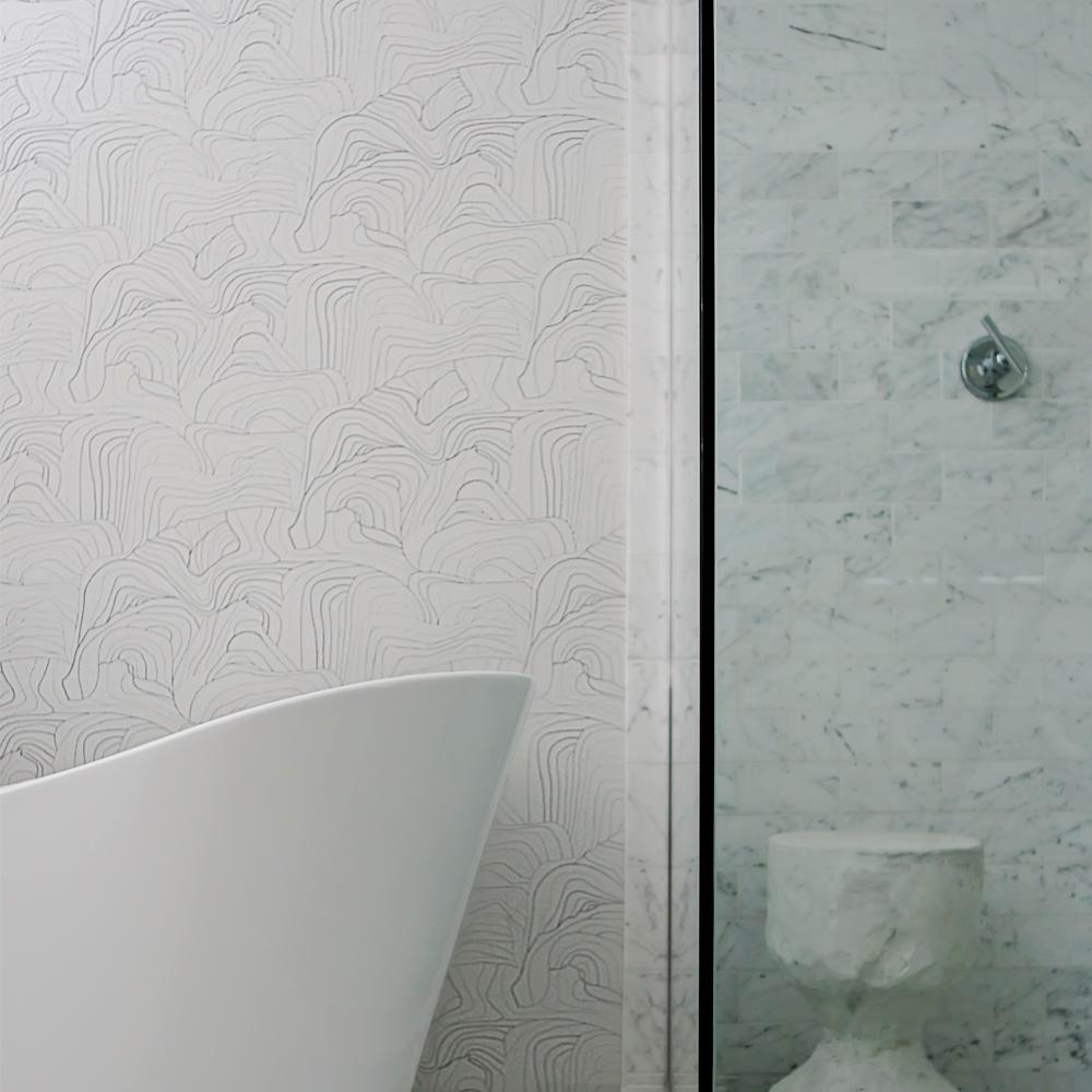Sandstone in Silver Rock Colorway - Modern Bathroom