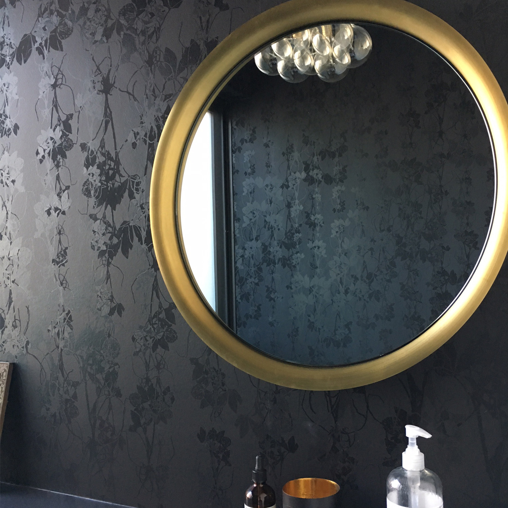Sleeping Briar Rose in Noir Colorway - Modern Bathroom