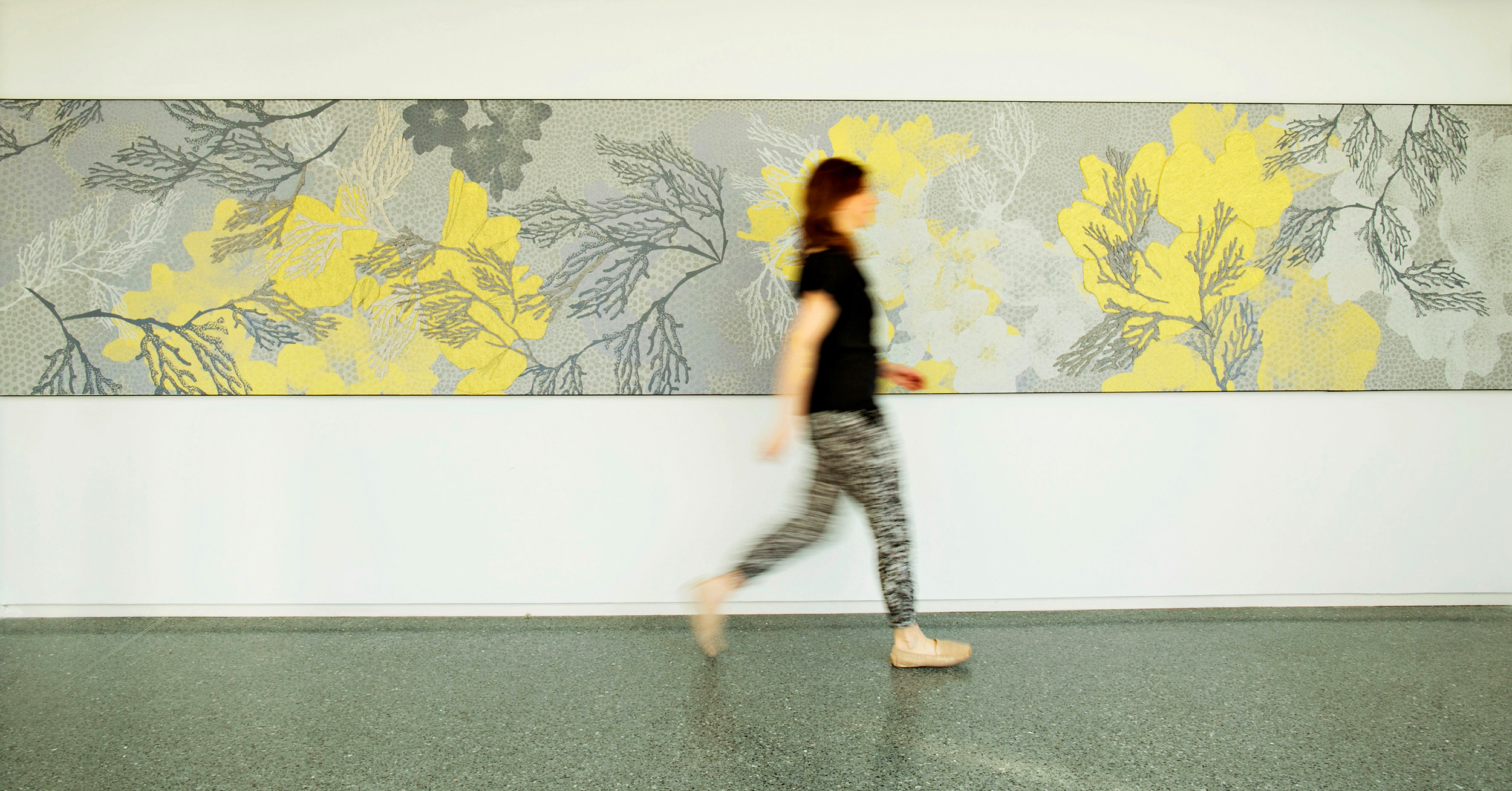 CUSTOM MURAL FOR YELLOW MAGNOLIA CAFÉ AT THE BROOKLYN BOTANIC GARDEN, IN COLLABORATION WITH ROCKWELL GROUP